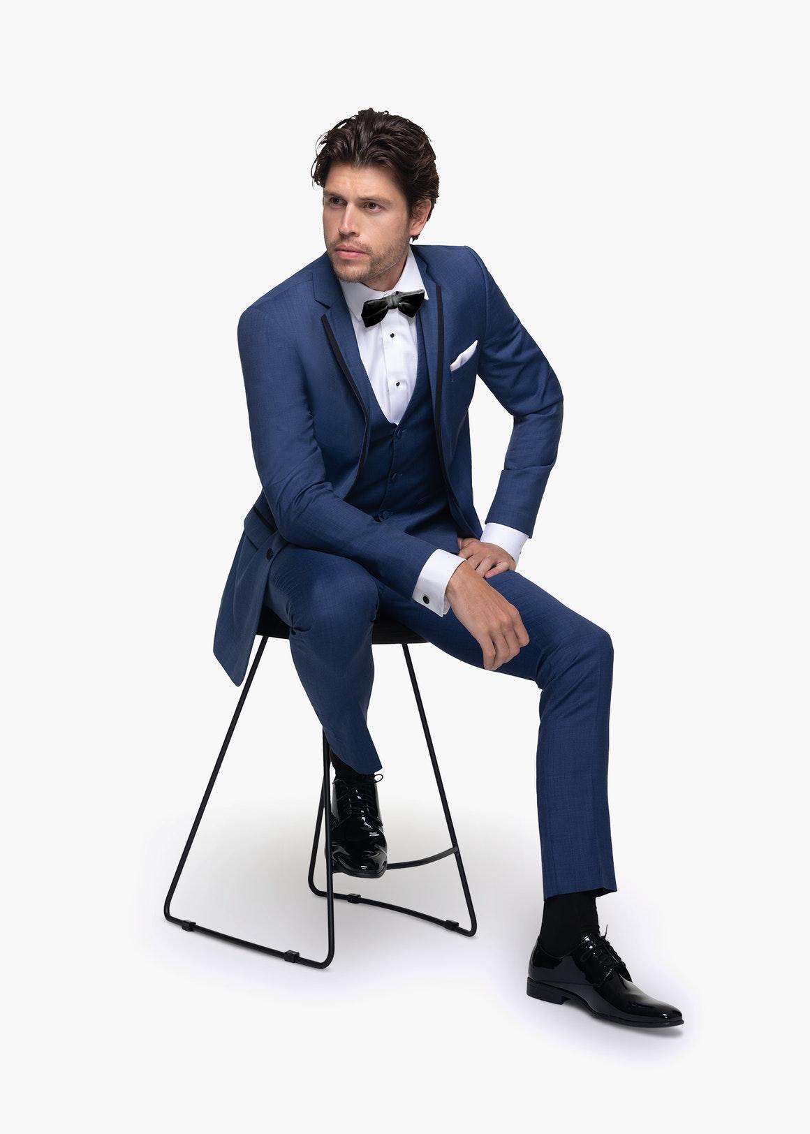 blue tuxedo groom