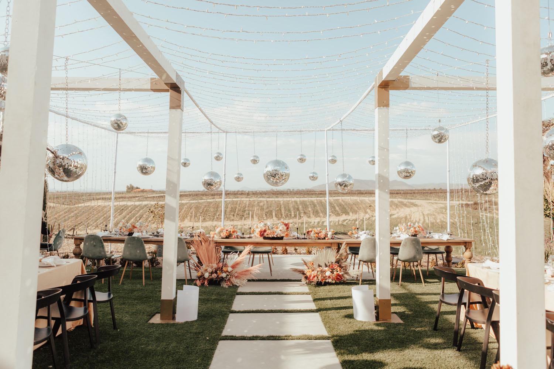 Disco Ball Wedding Reception