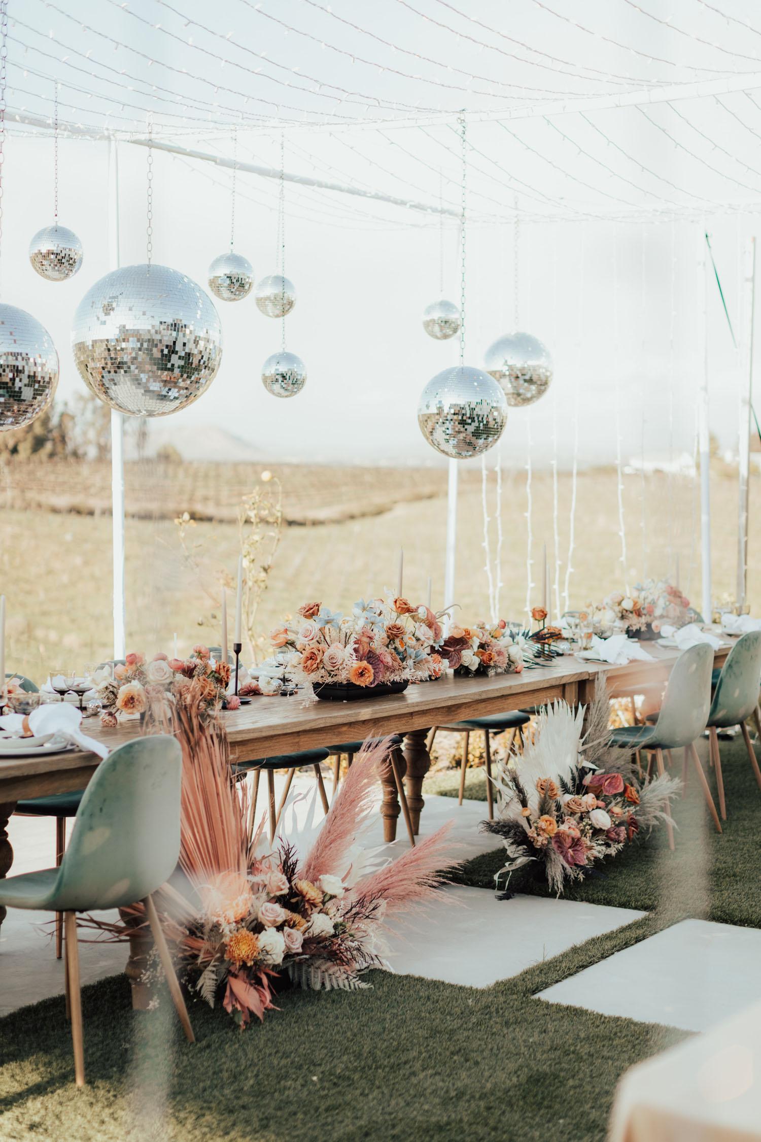 Modern Disco Wedding