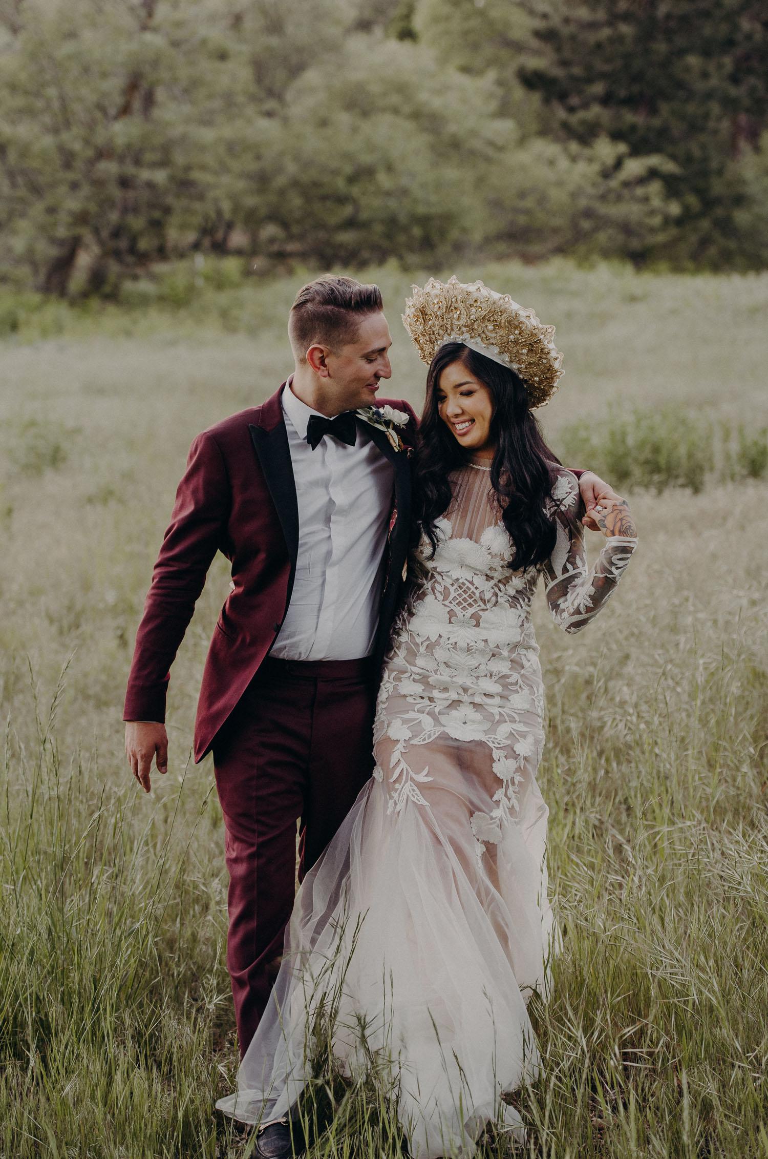 Boho California Forest Wedding