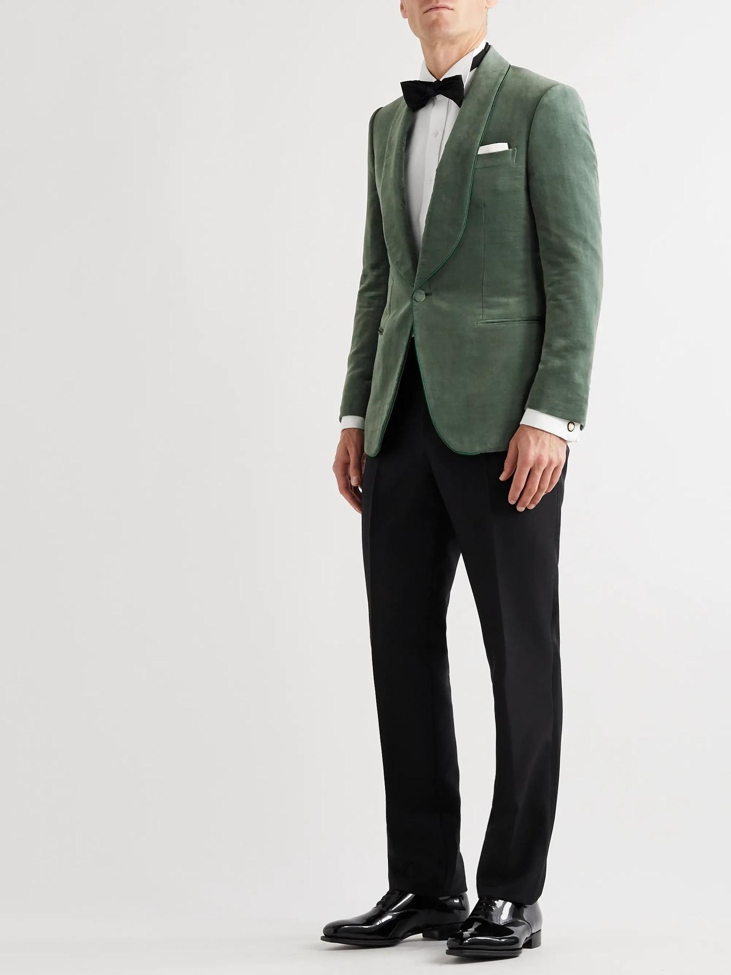 green groom suit jacket