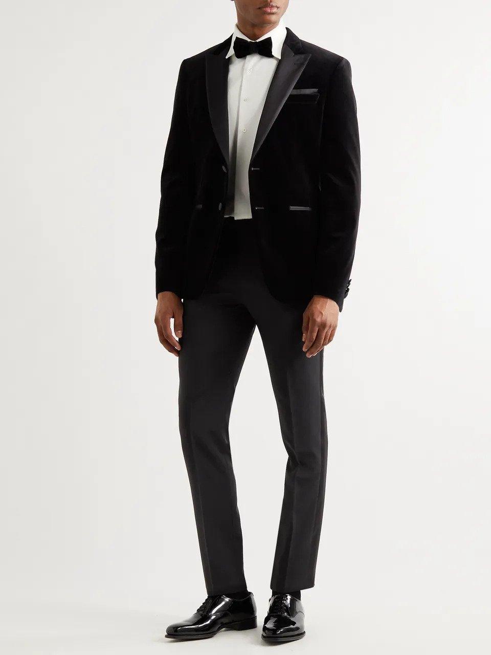 classic black tuxedo for groom