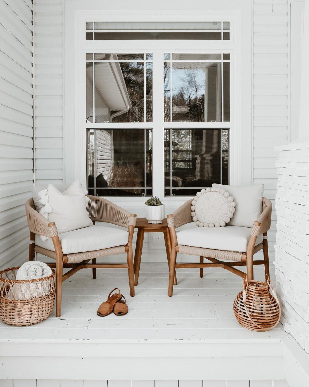 pretty white porch