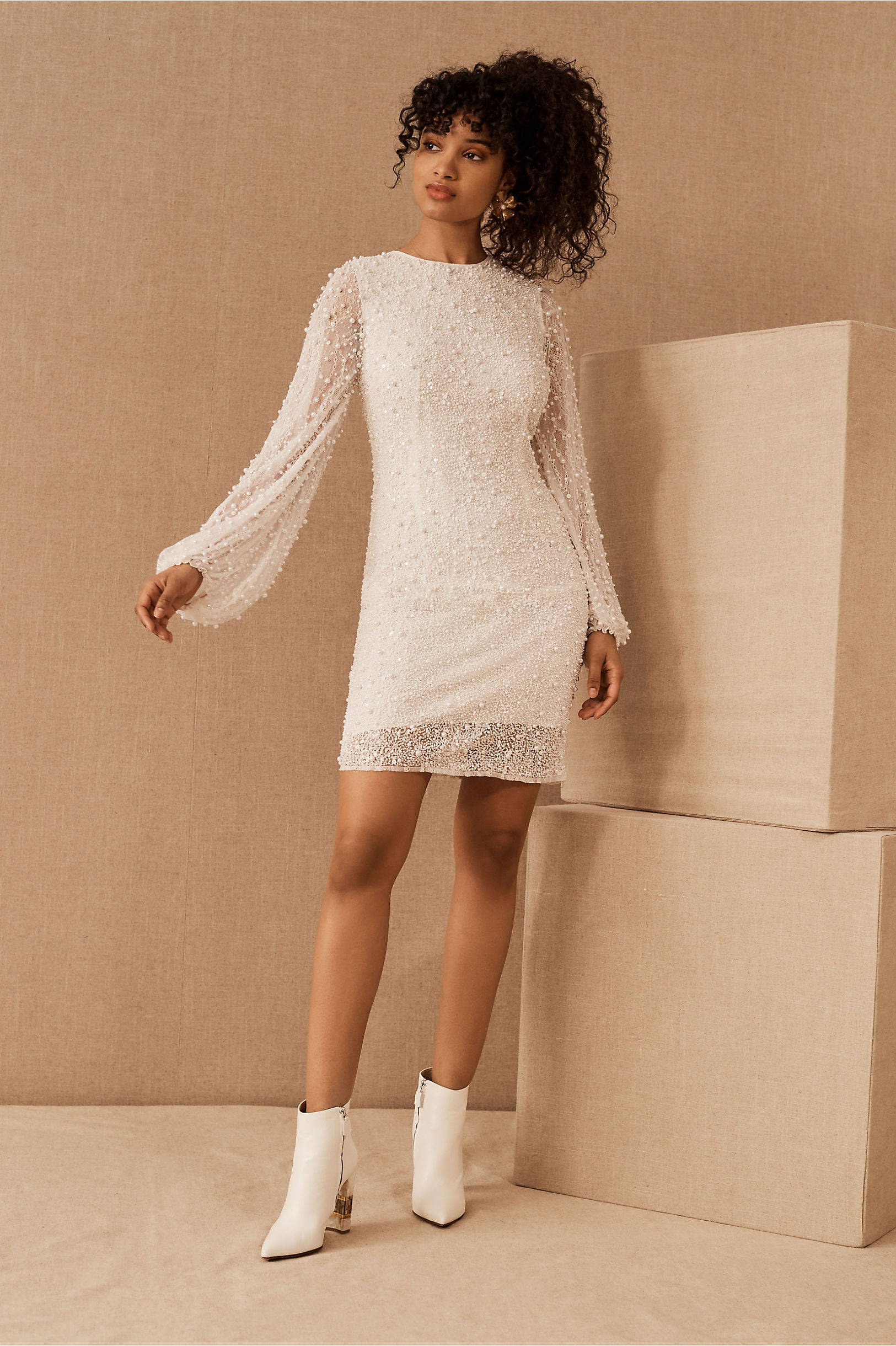 bhldn mini wedding dress