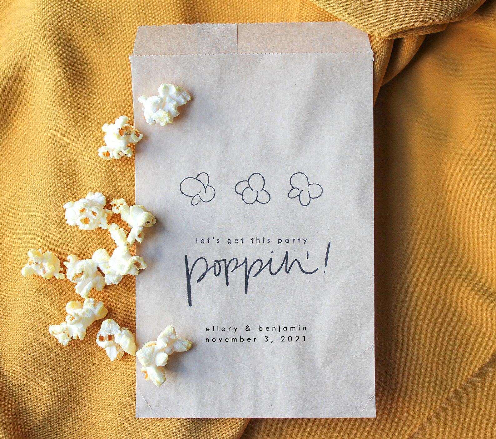 popcorn wedding favor bag
