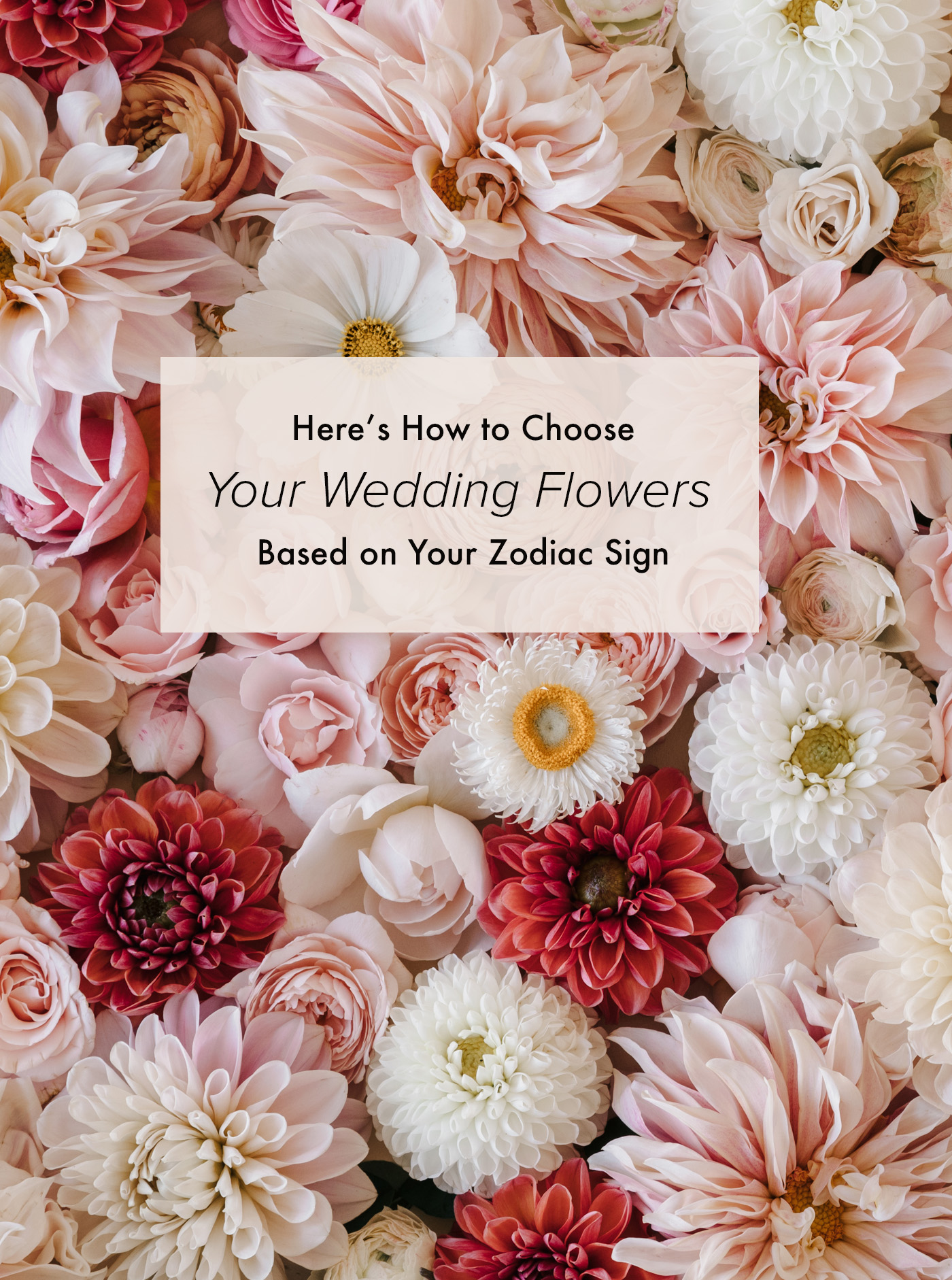 How to Choose Your Wedding Flowers Based on Your Zodiac Sign