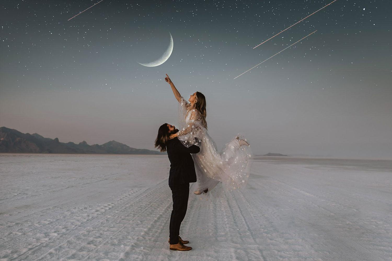 Celestial Salt Flats Elopement Inspiration