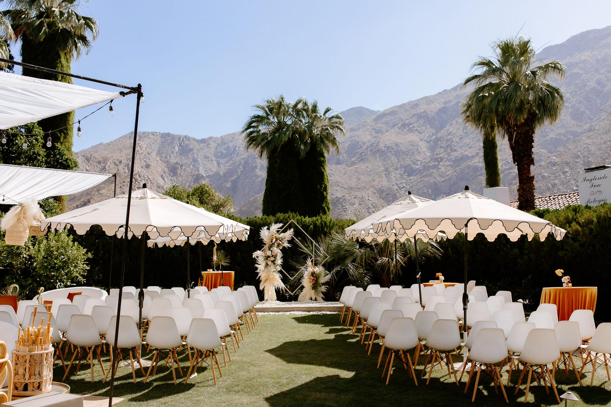 boho pampas grass wedding backdrop