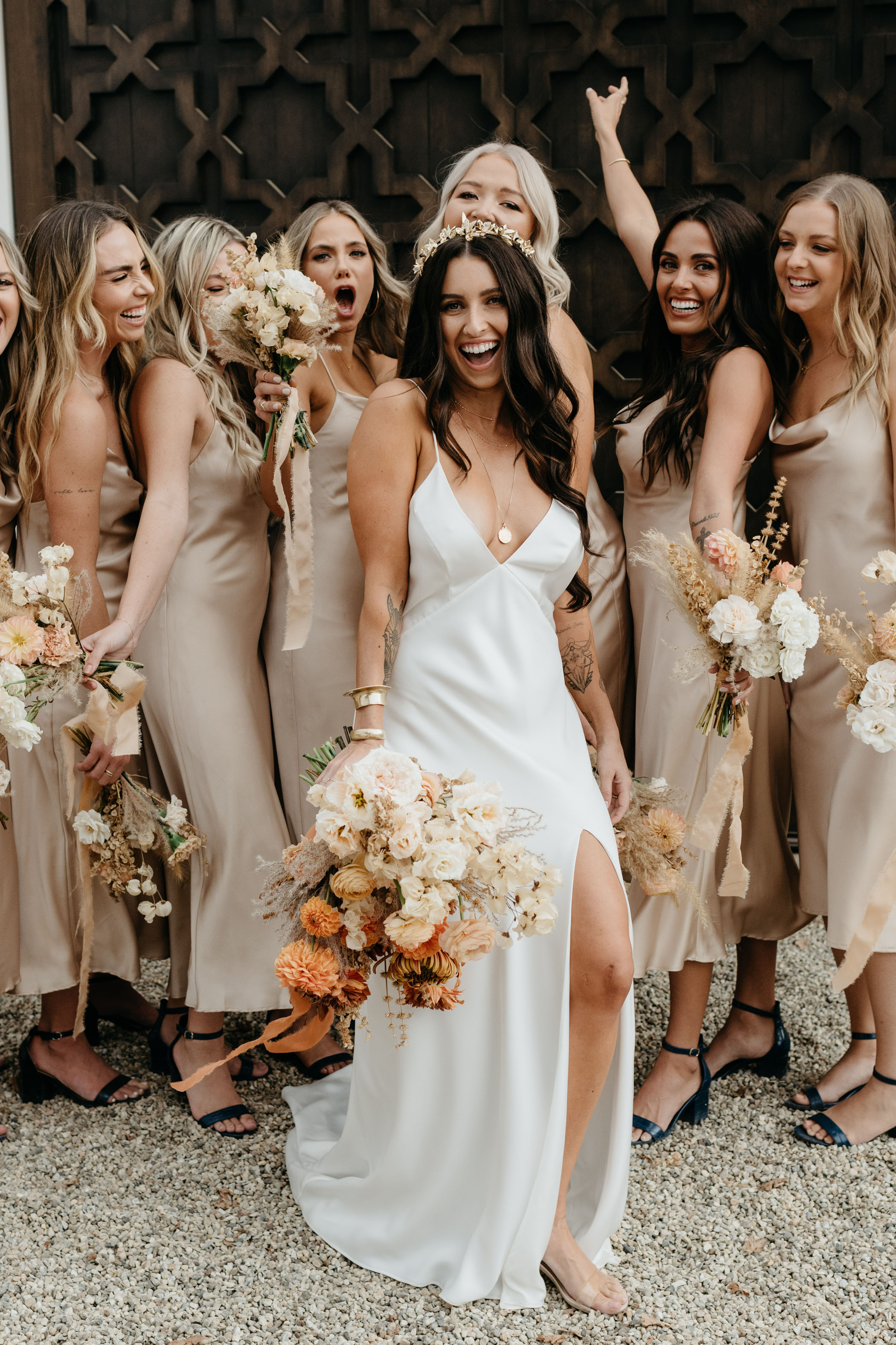 Satin Slip Bridesmaid Dresses