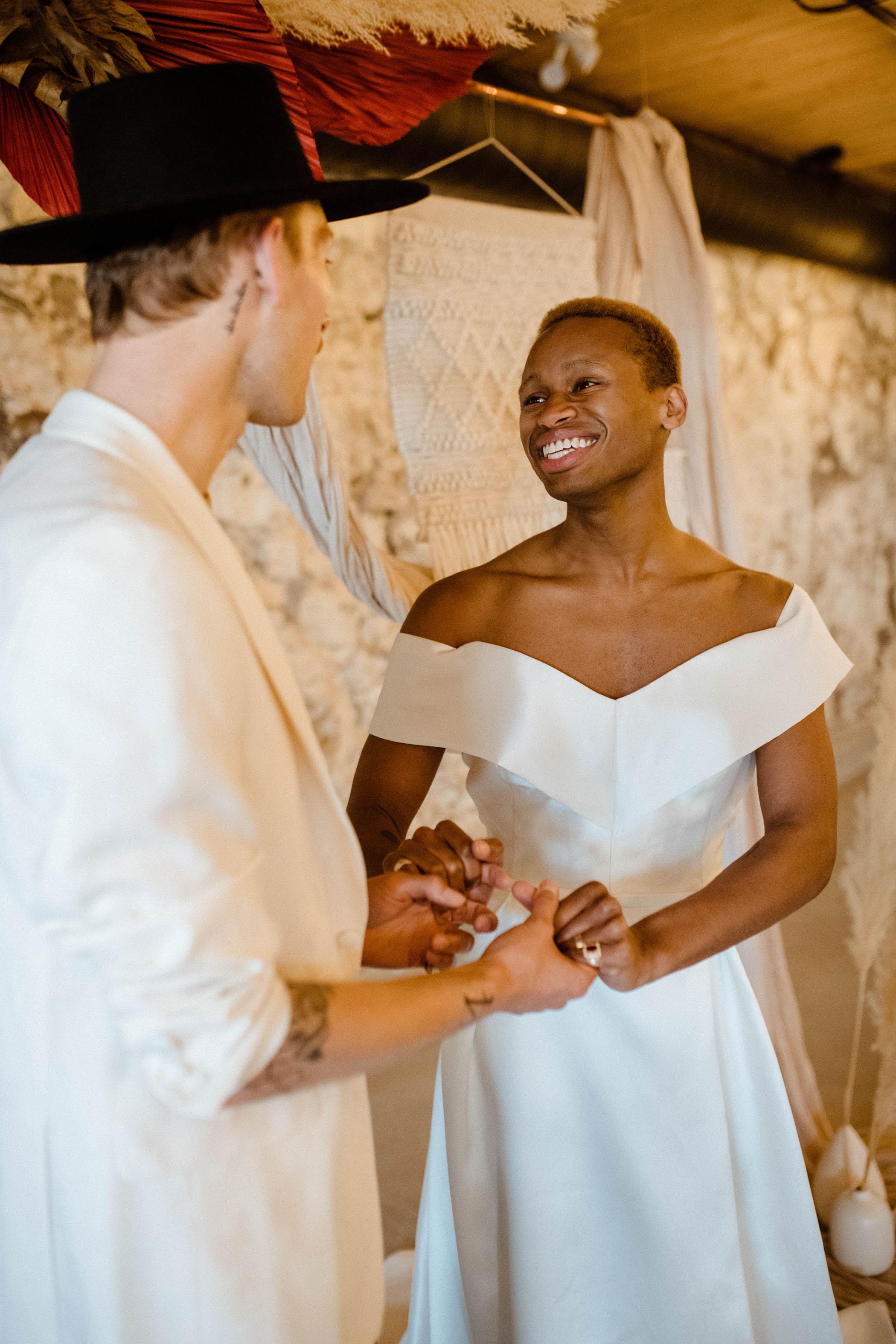 Modern Boho Wedding with Fierce Fashion