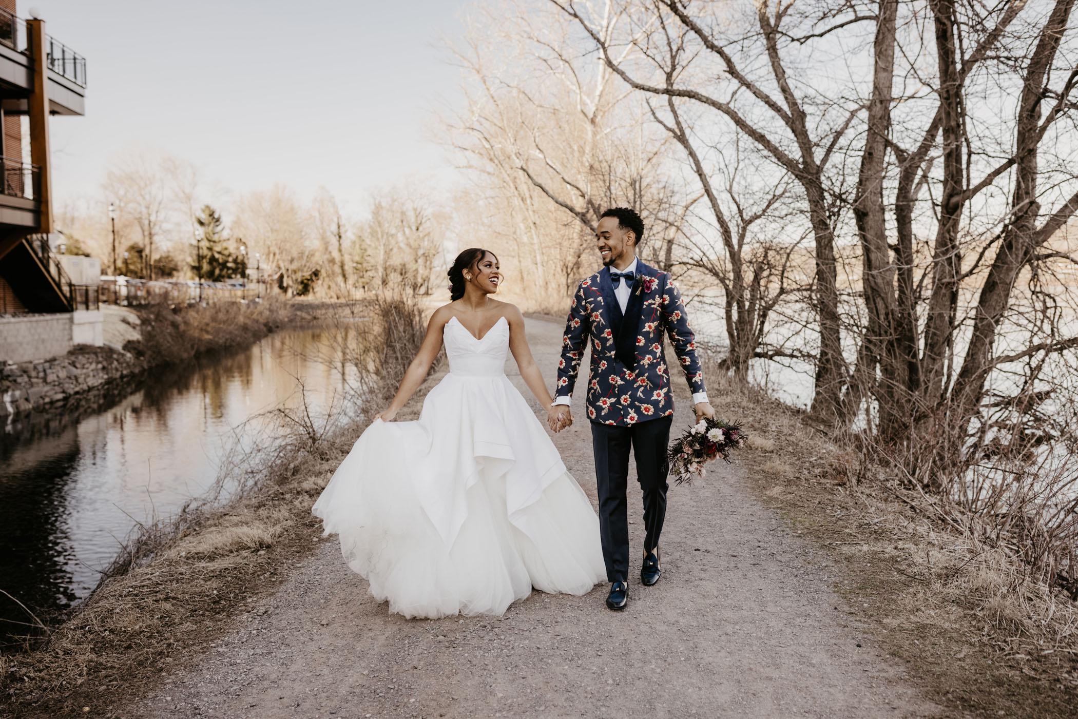 Romantic River House Wedding
