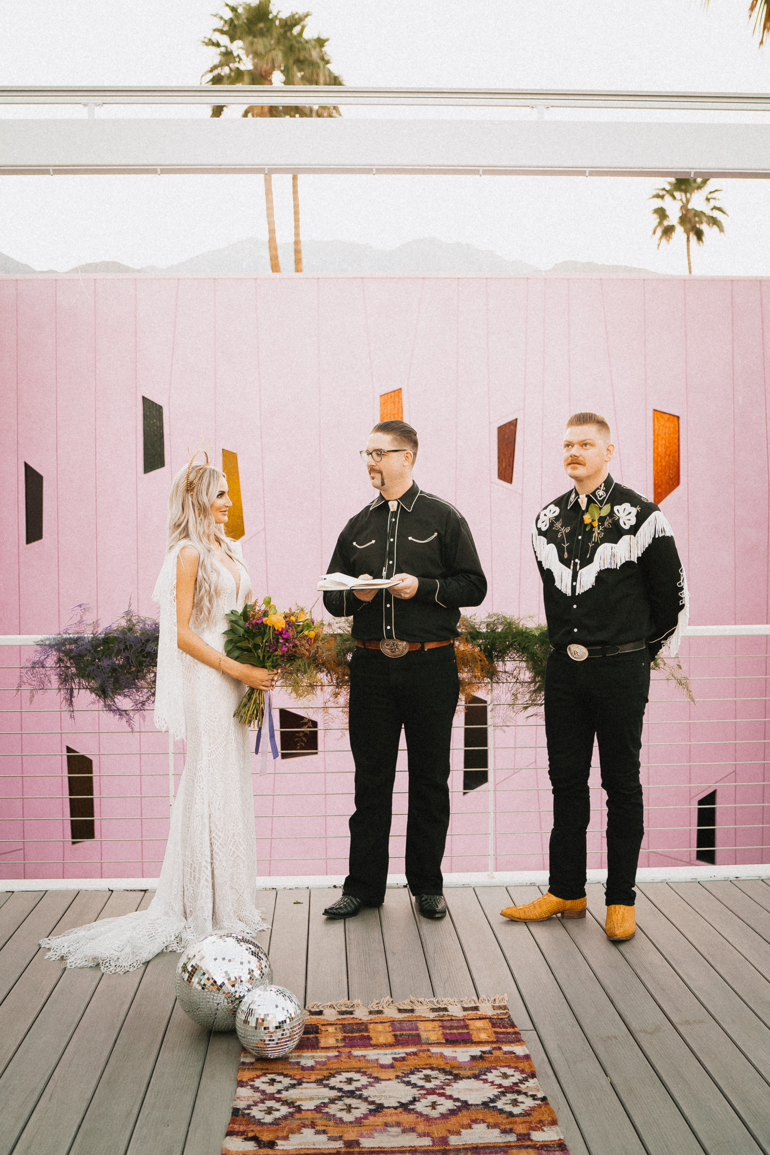 70s Palm Springs Elopement