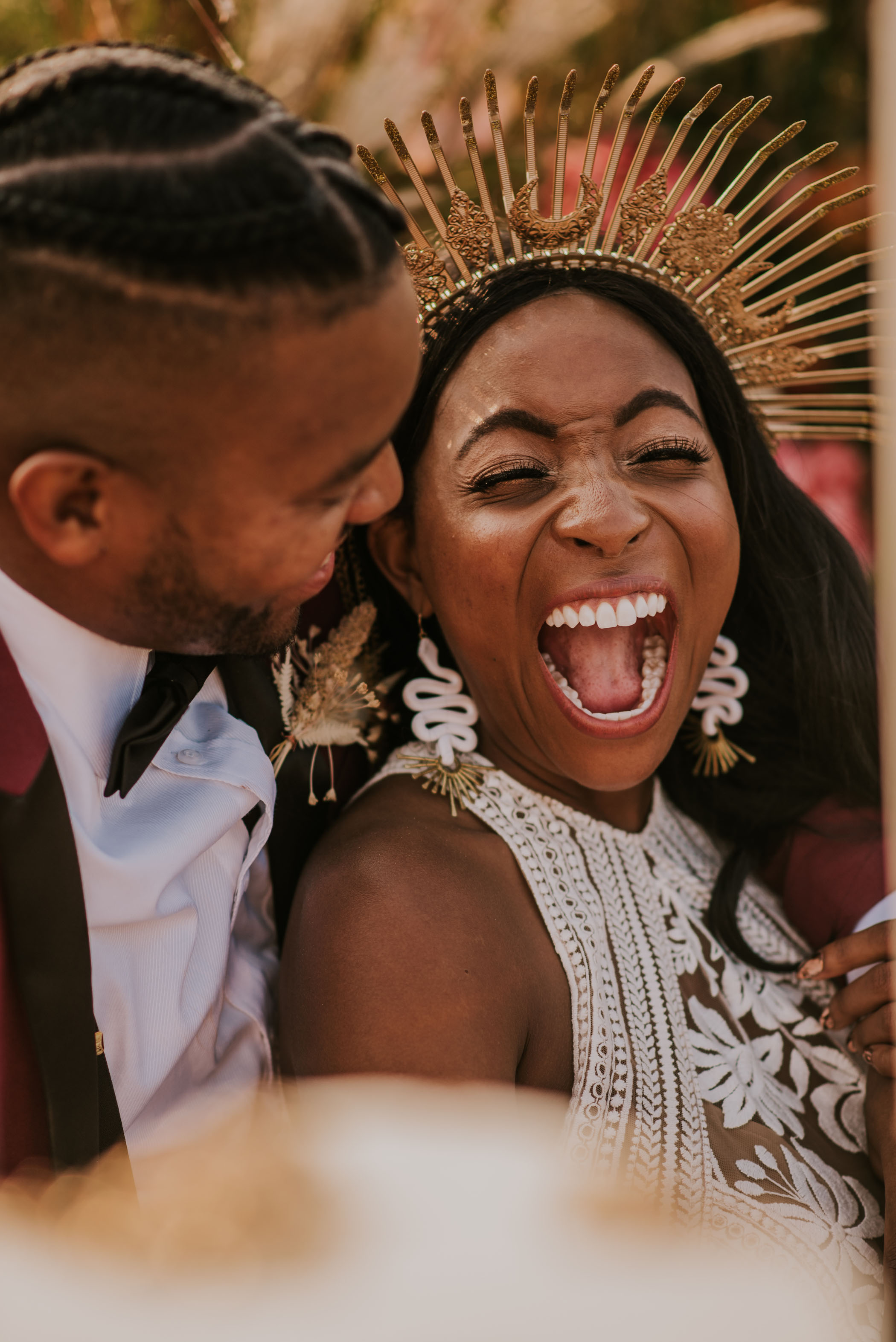 happy bride bridal halo