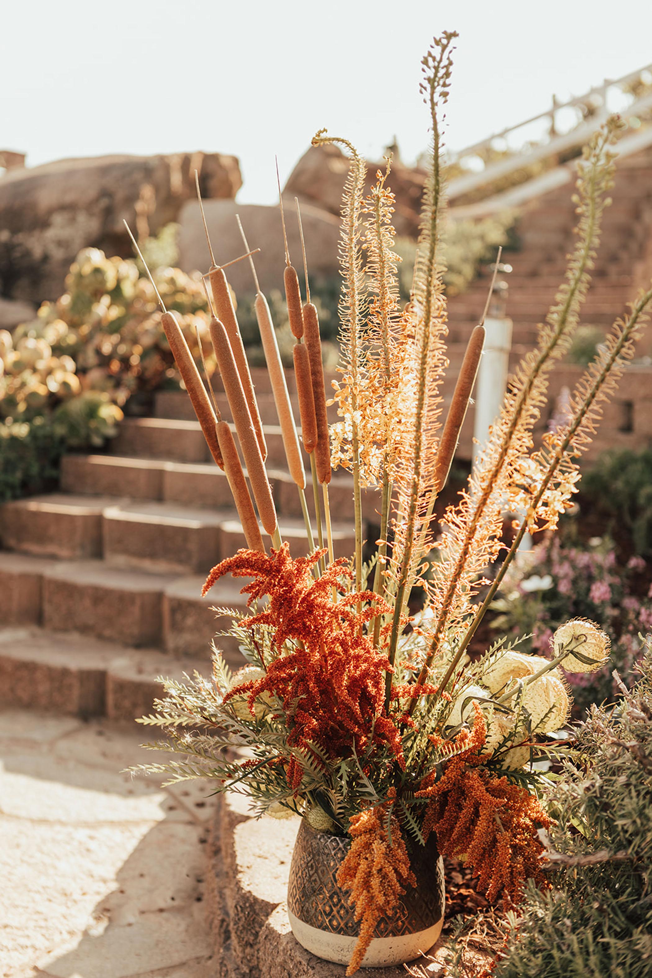 Boho Twinkle Light Backyard Wedding