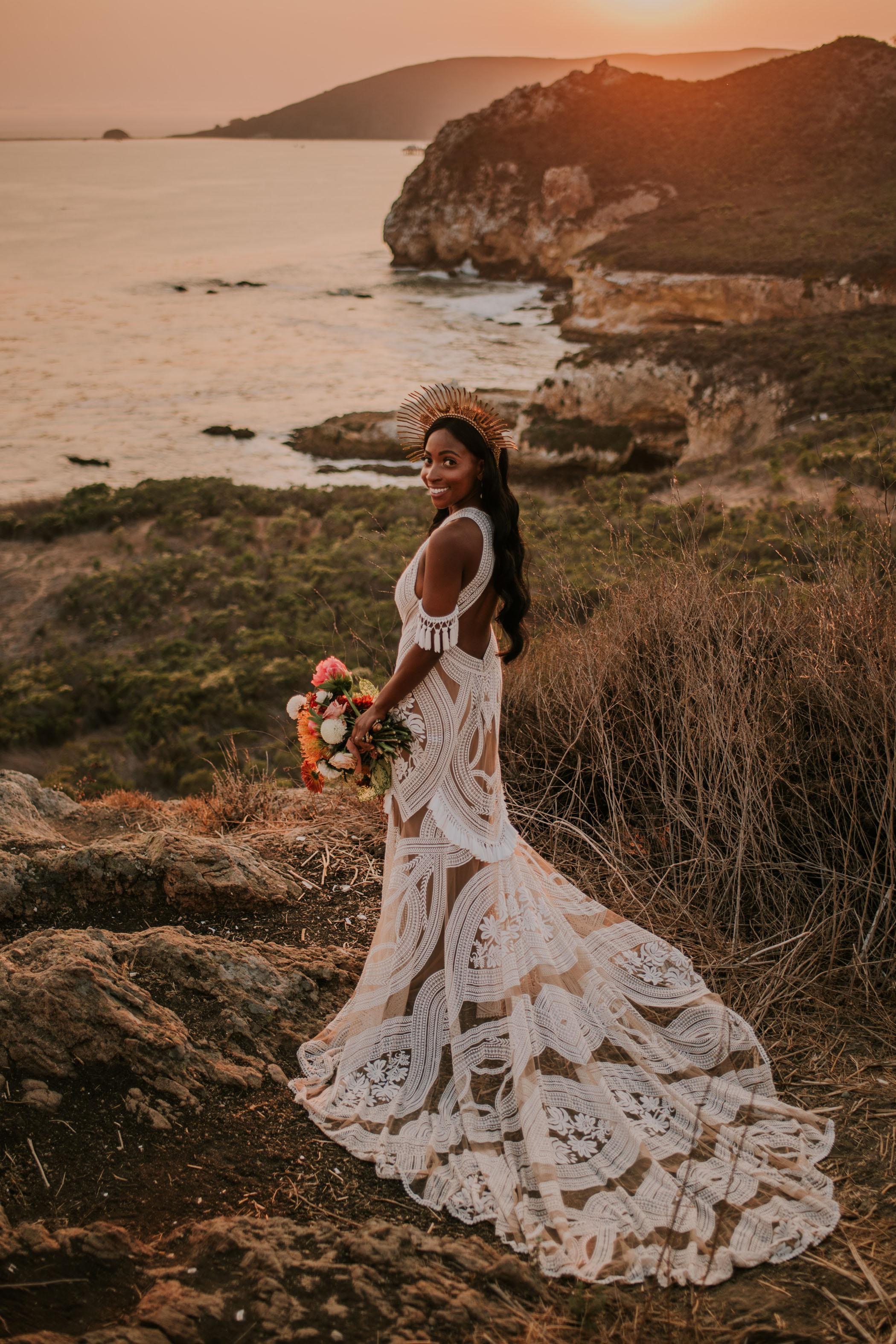 Rue De Seine dress Bridal Halo Crown