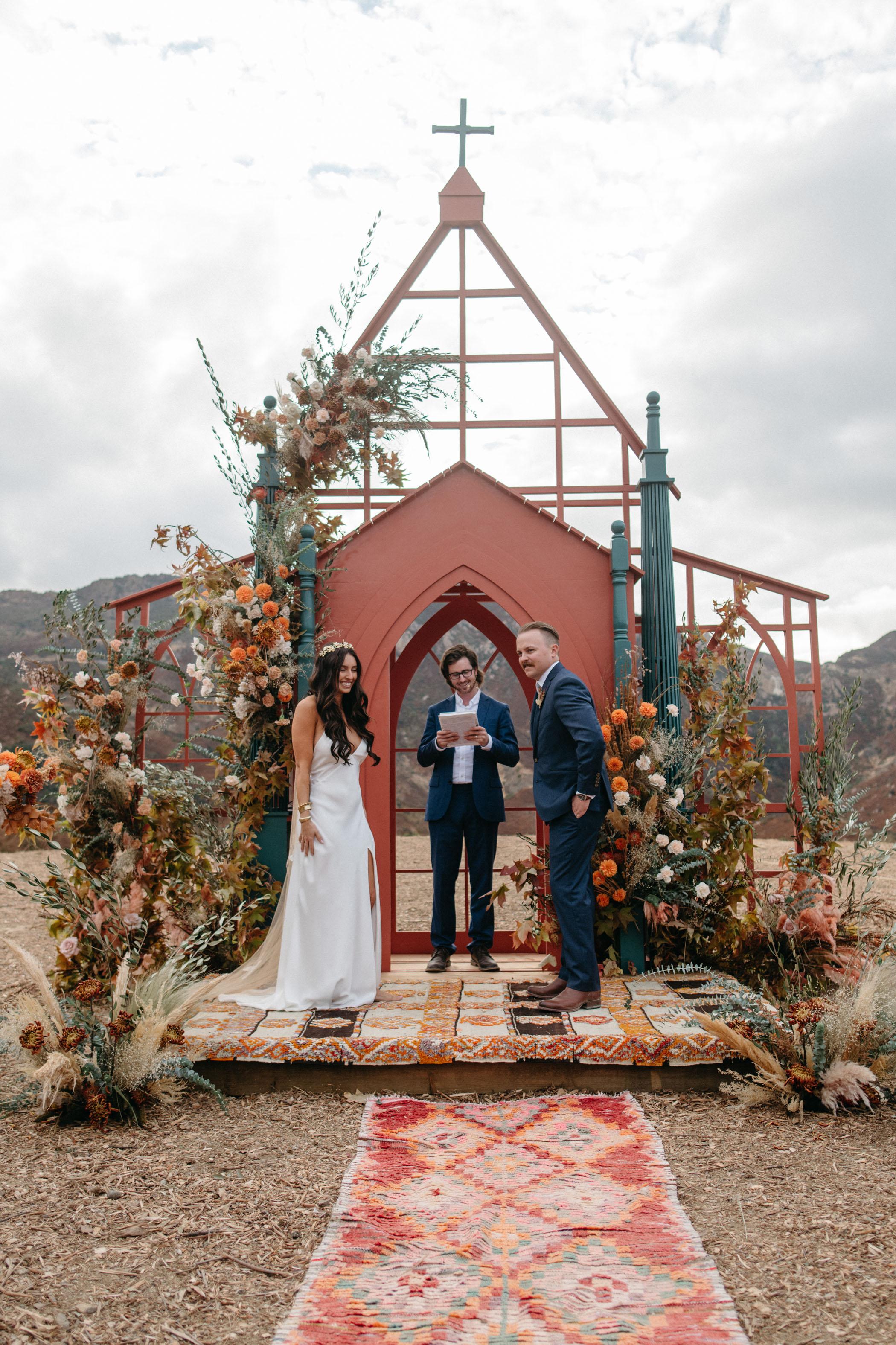 outdoor wedding backdrop steal chapel Mulholland