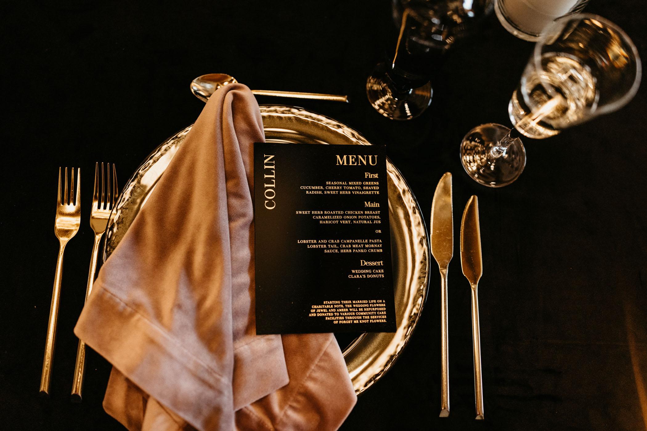 gold flatware wedding