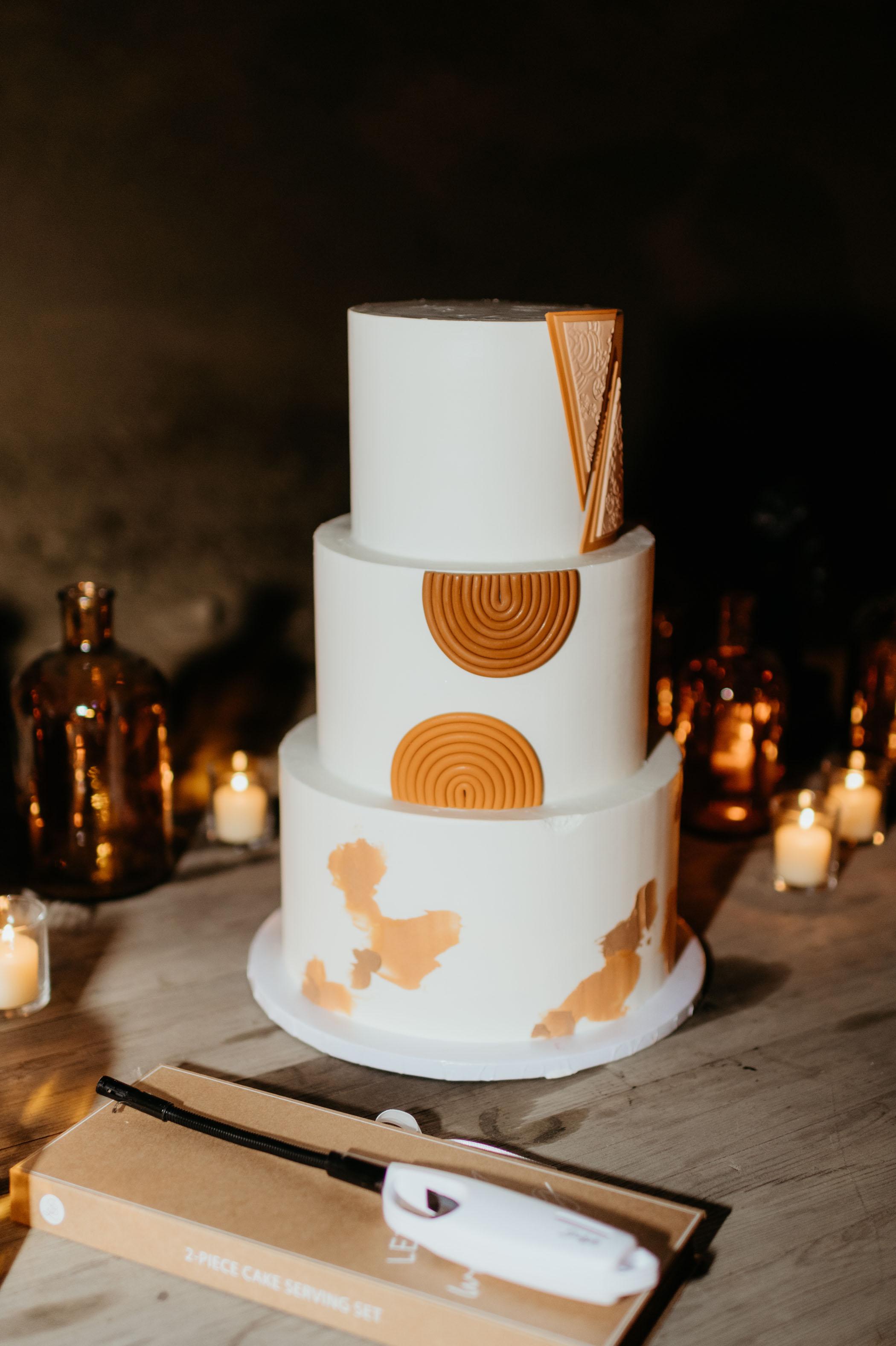 Boho Rainbow Wedding Cake
