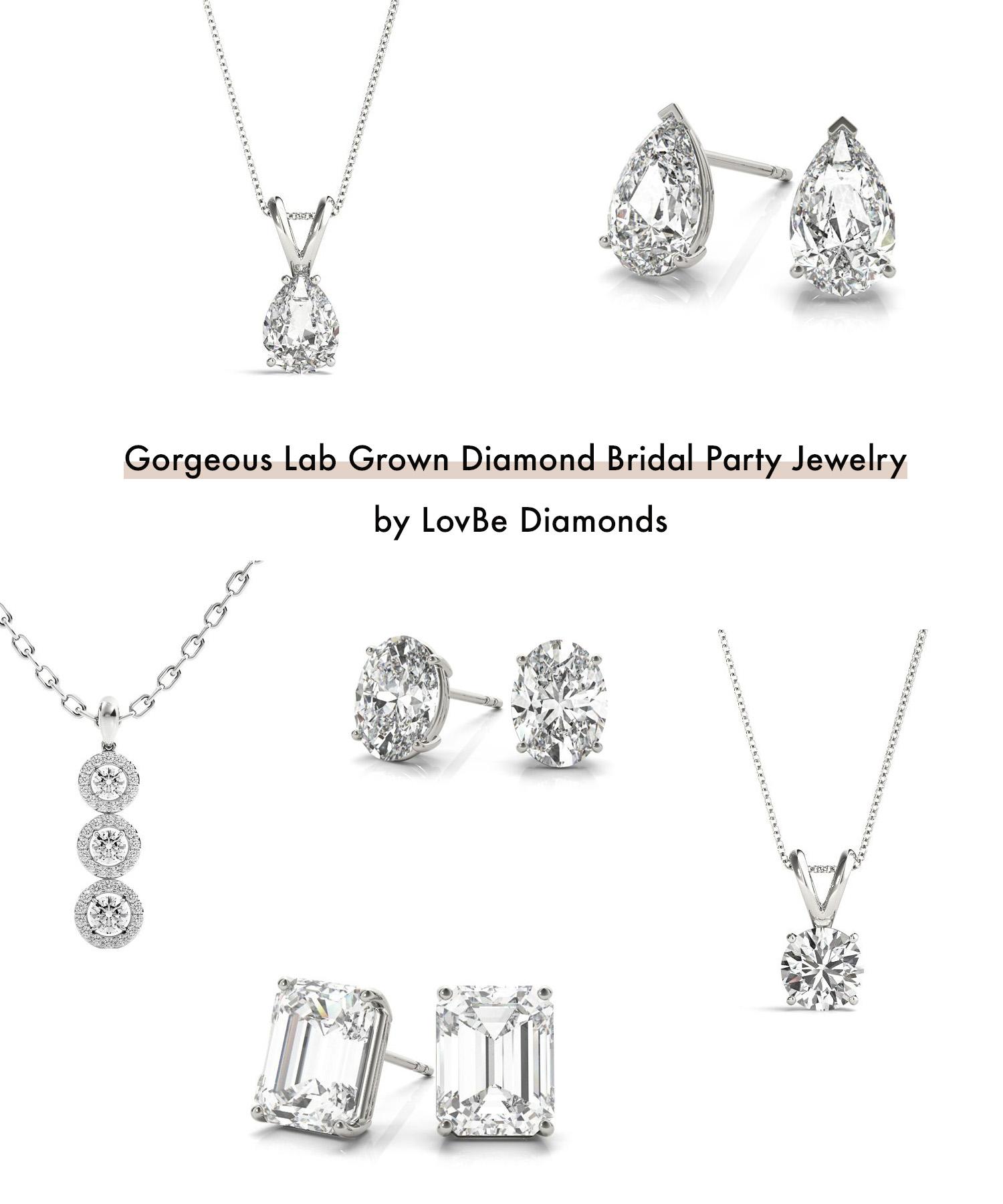 Lab Grown Diamond Bridal Party Jewelry LovBe Diamonds
