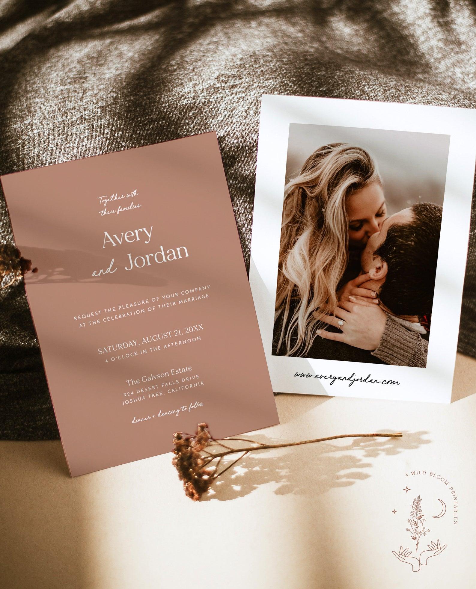 wild bloom online wedding invites