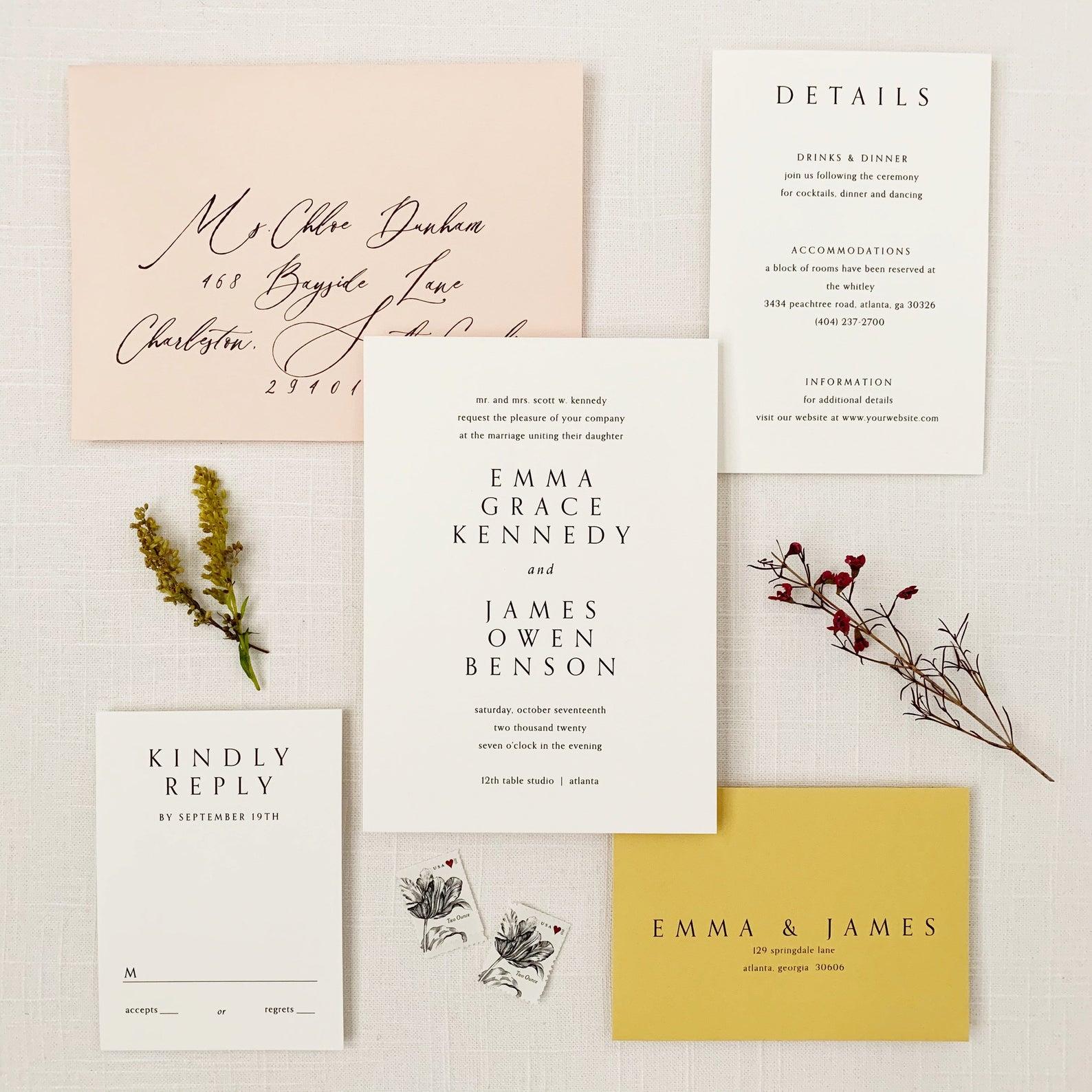 romantic wedding invitations online