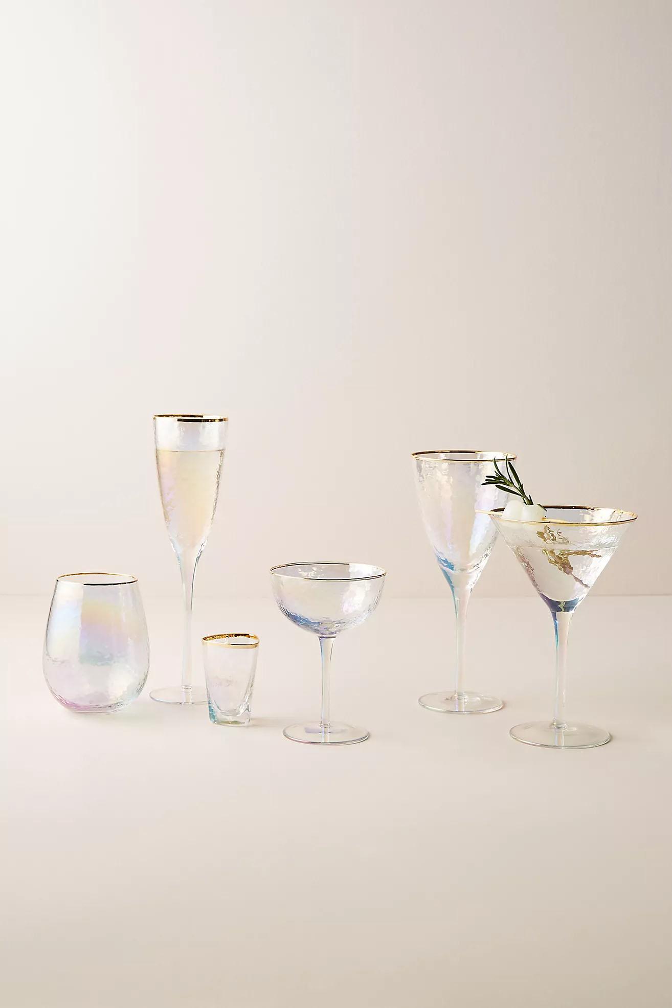 keepsake golf rimmed bridesmaid wine glasses bridal party gift idea