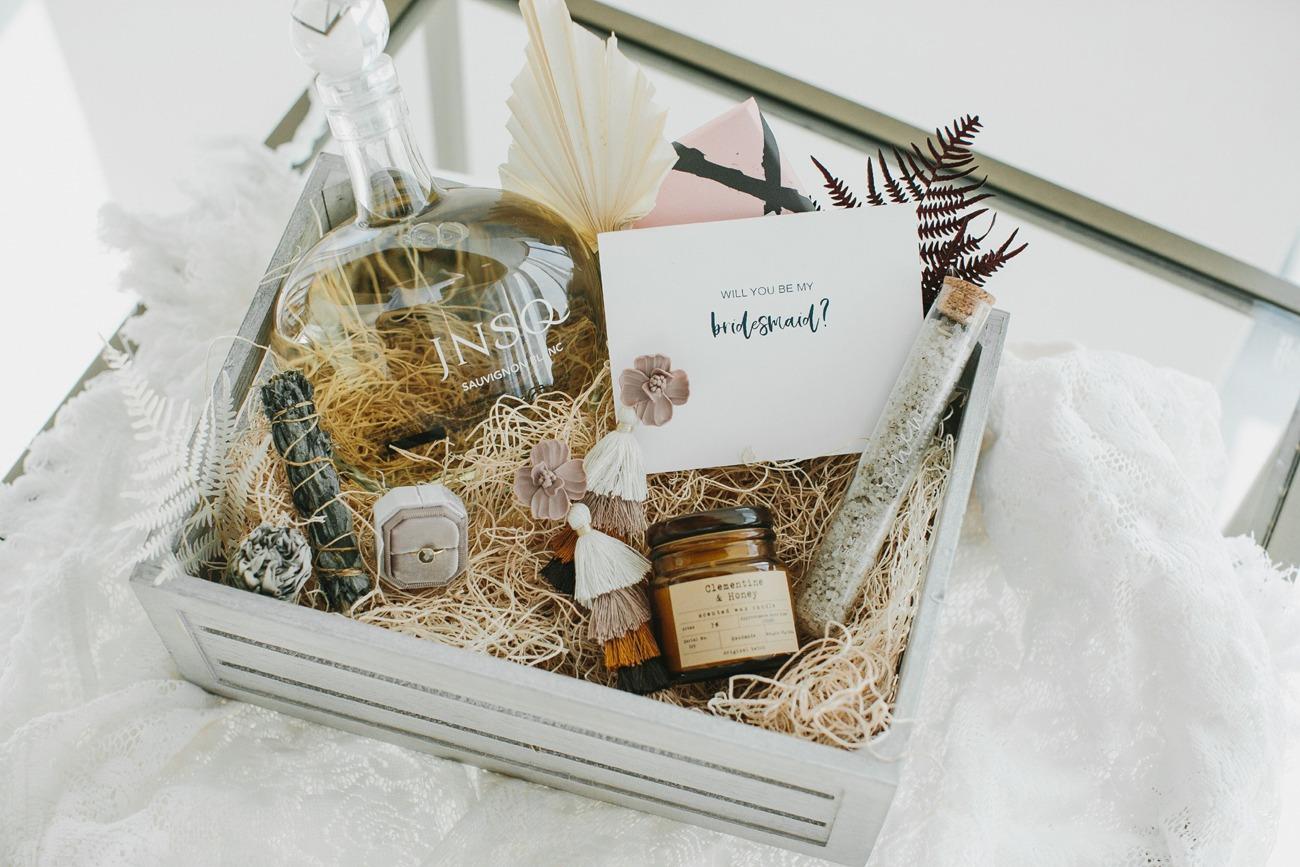 bridesmaid proposal box bridal gift idea