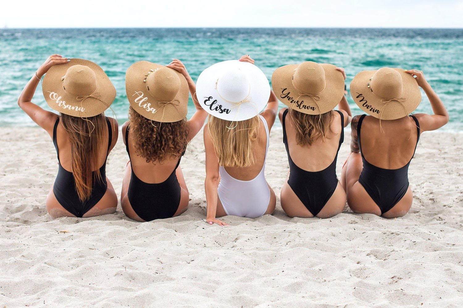 personalized beach hats for bridesmaids gifts