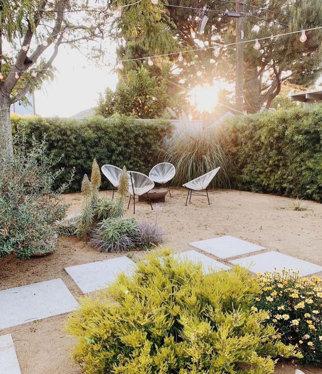 california backyard garden