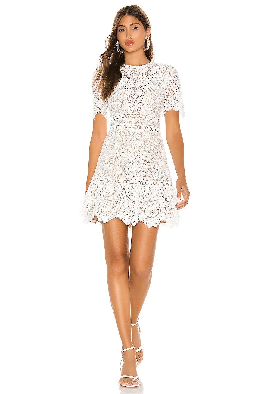 short lace white dress