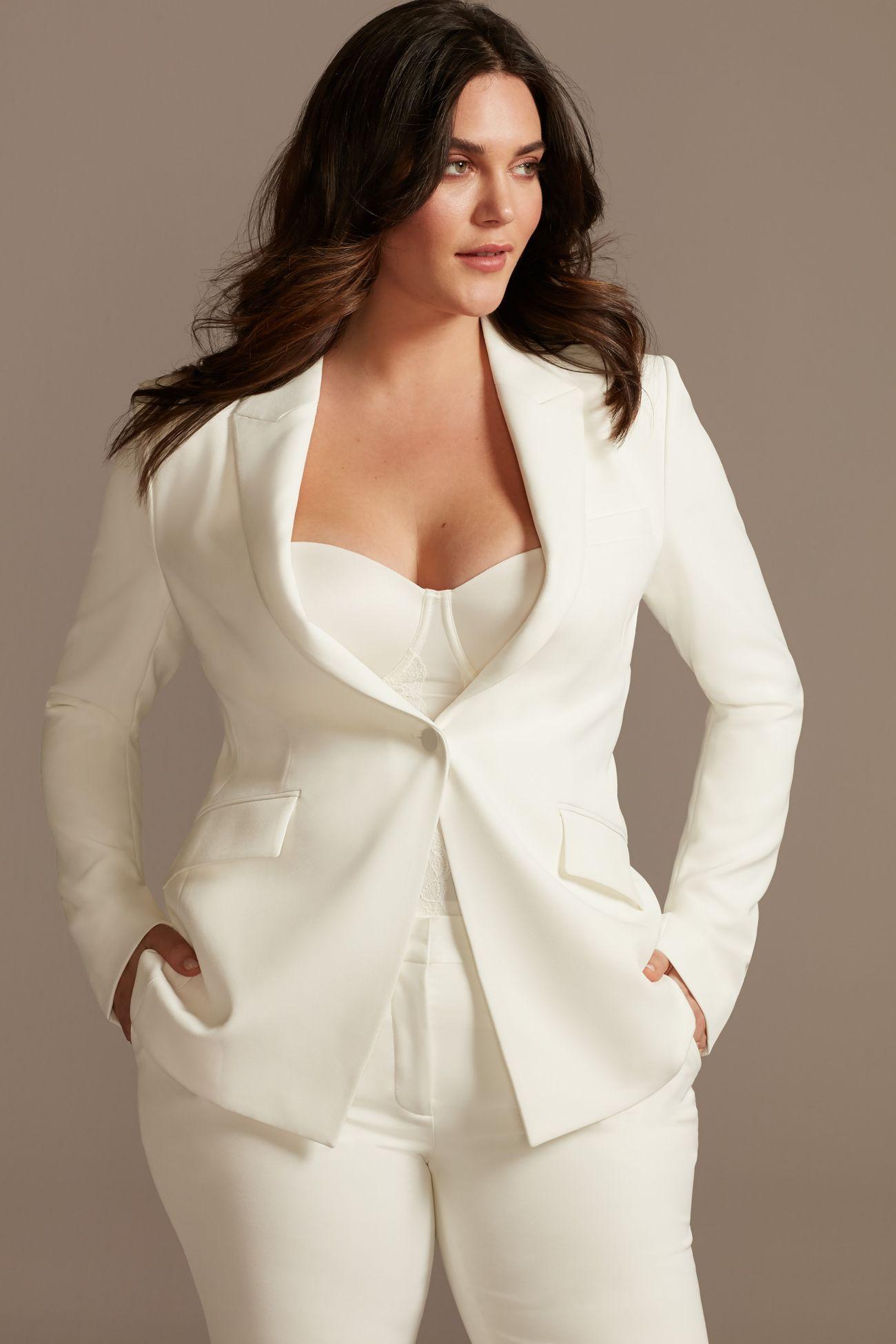 davids bridal white suit