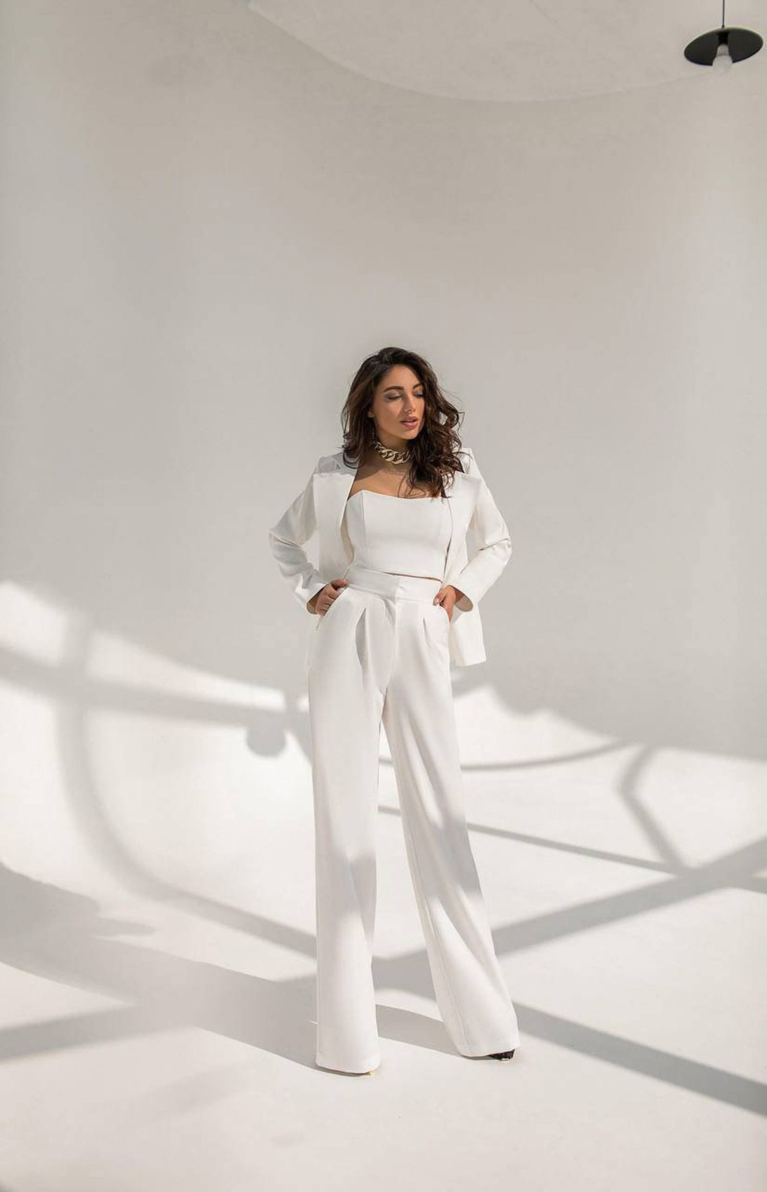 etsy three piec formal white womens suit