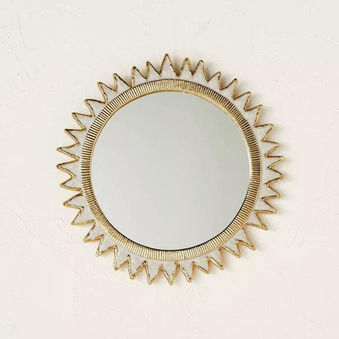 gold wall mirror target