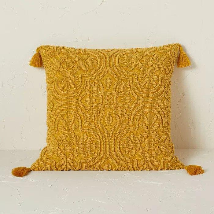 Mustard yellow throw pillow target