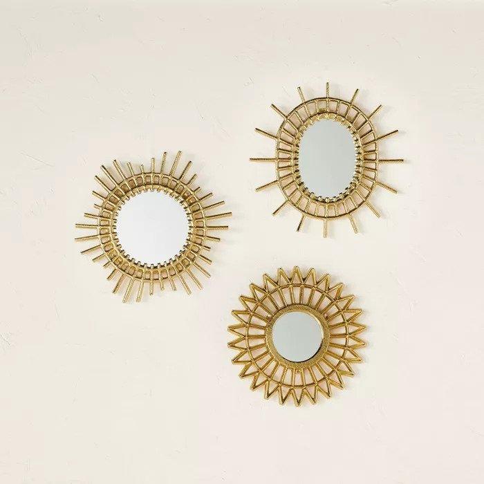 gold mirror set target