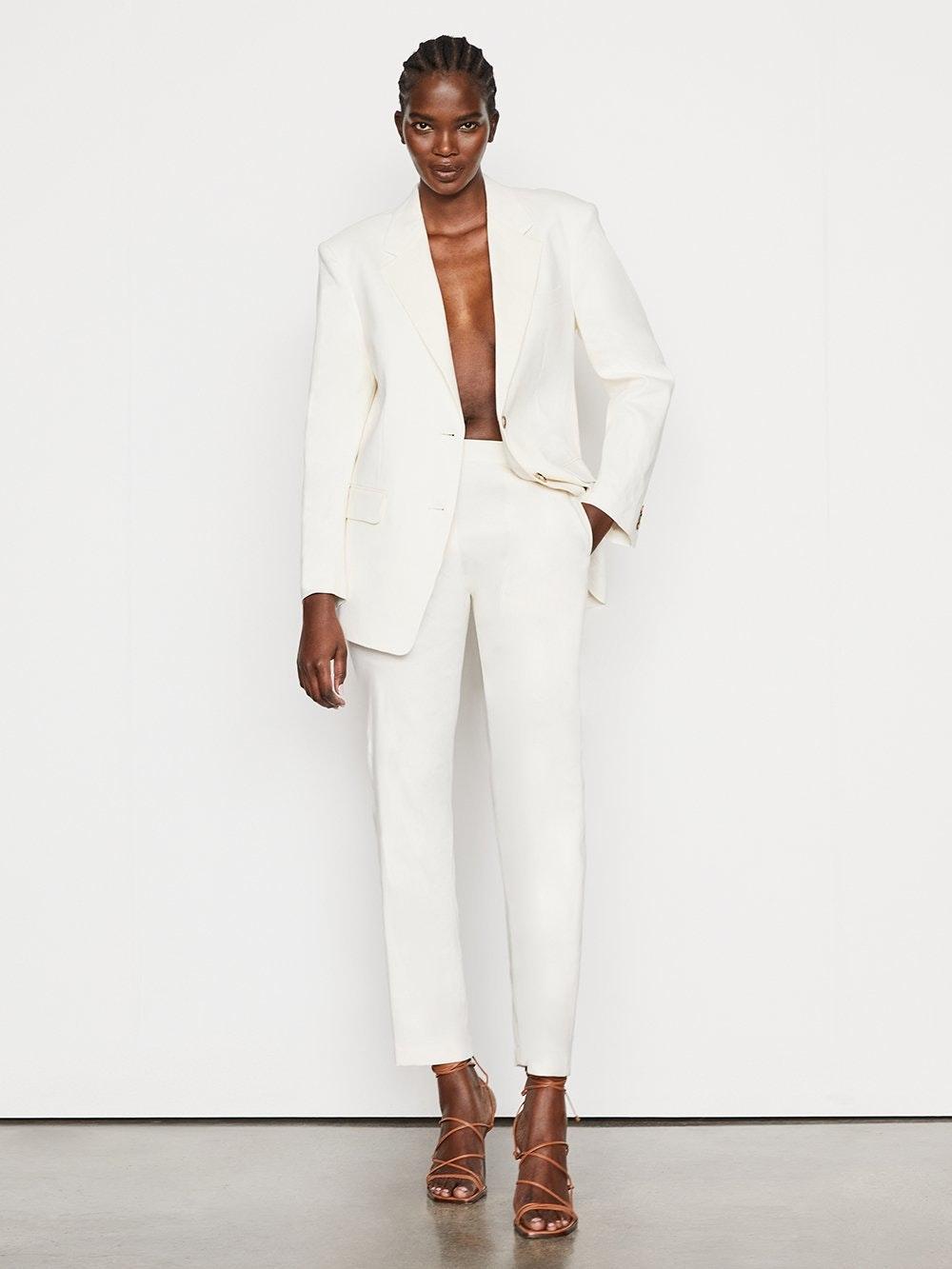 frame white utility jacket