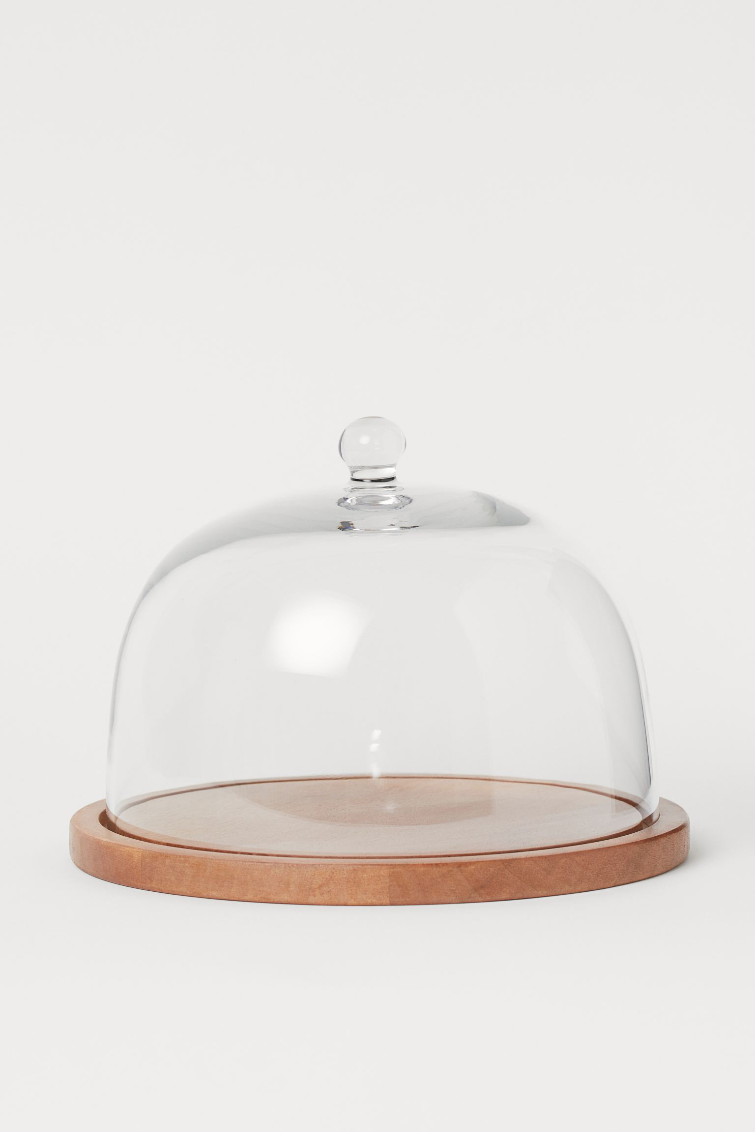 glass dome with tray