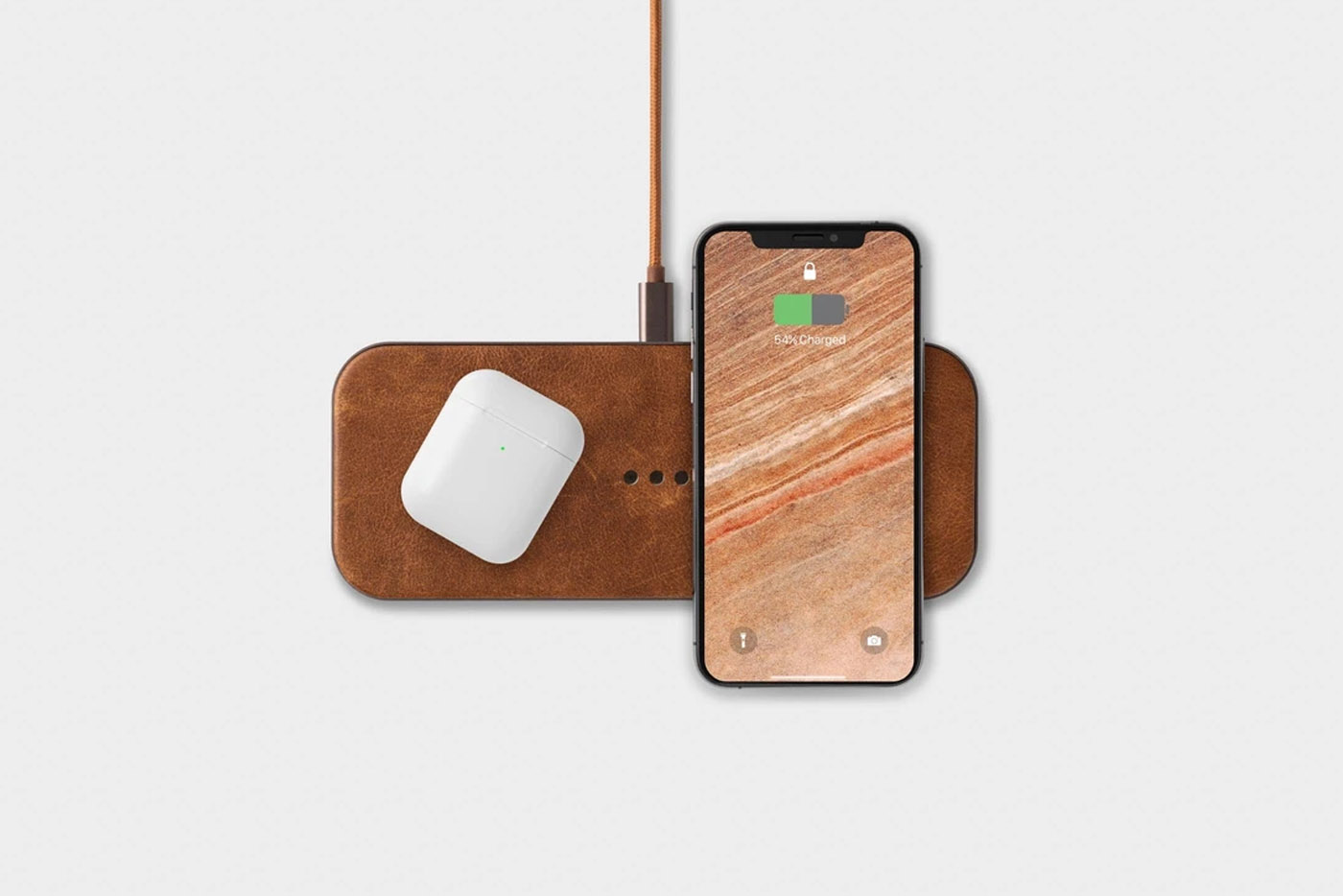 leather wireless phone charger