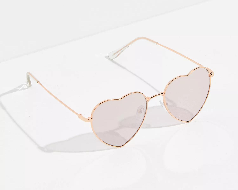 rose gold heart sunglasses