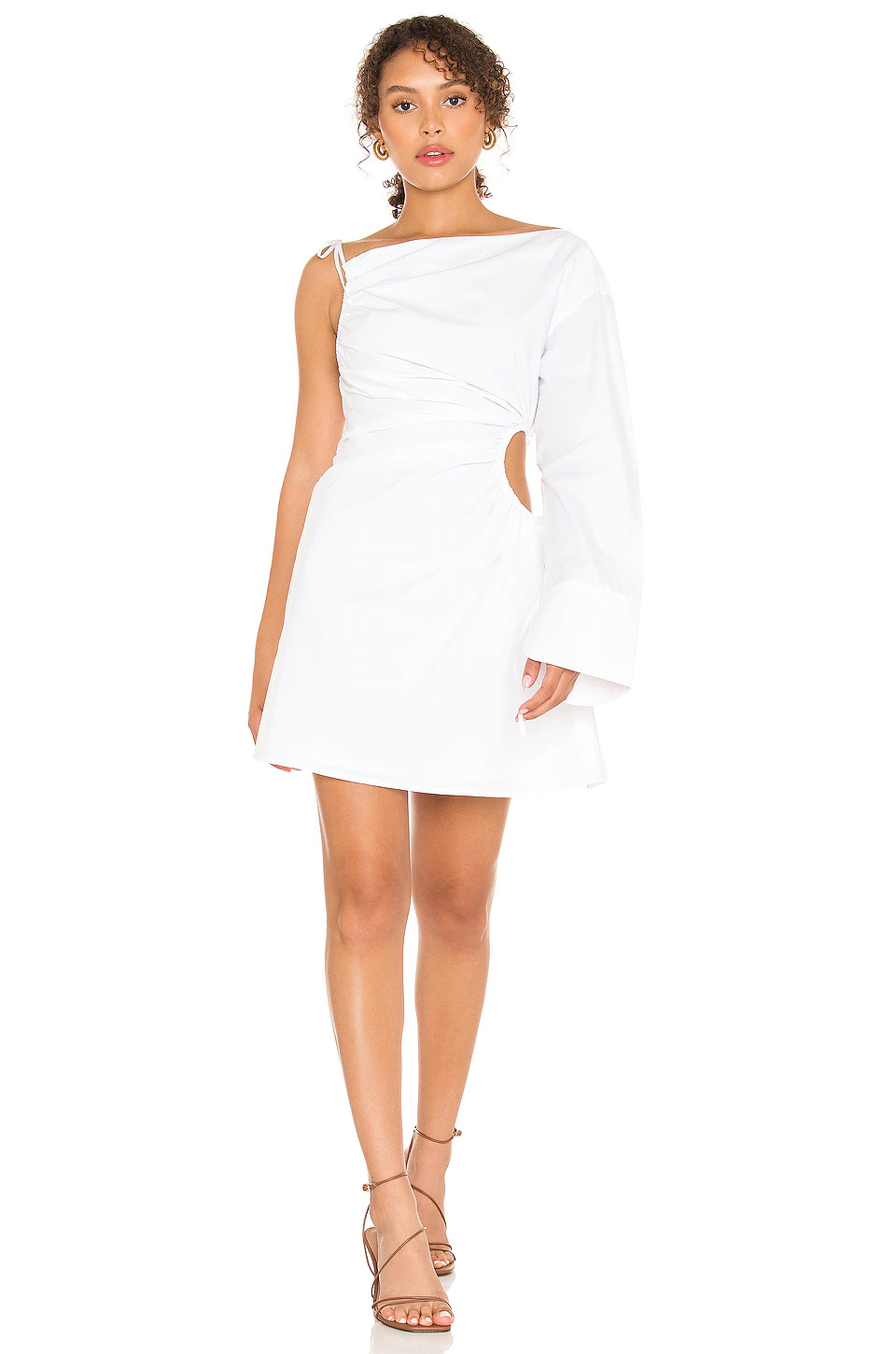 song of style little white dress