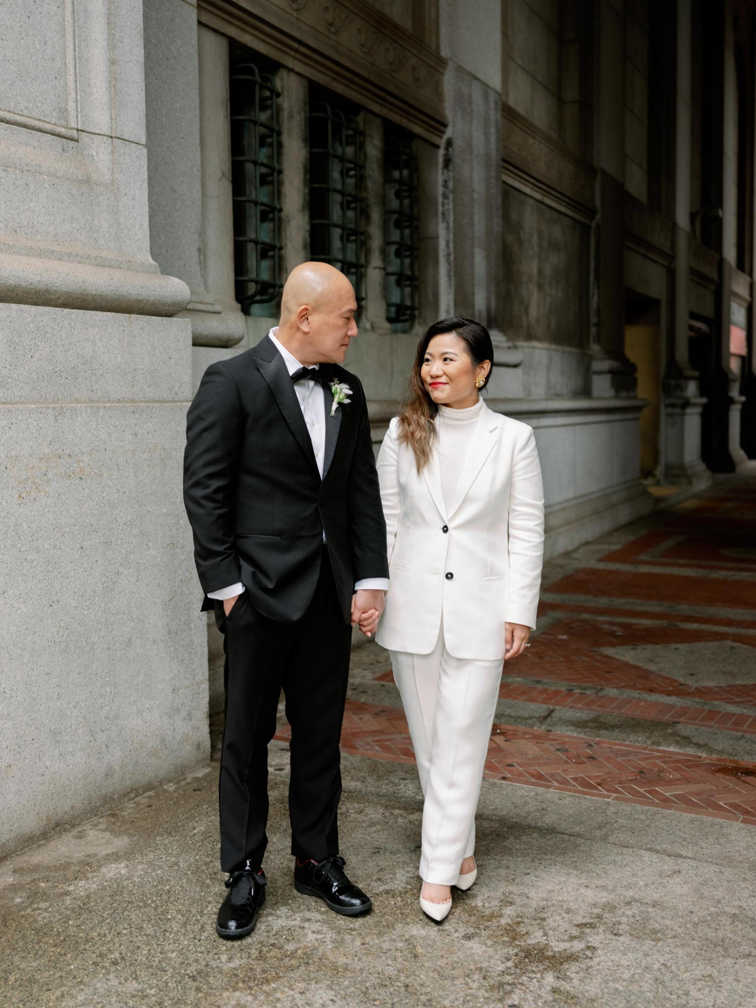 wedding suit for bride