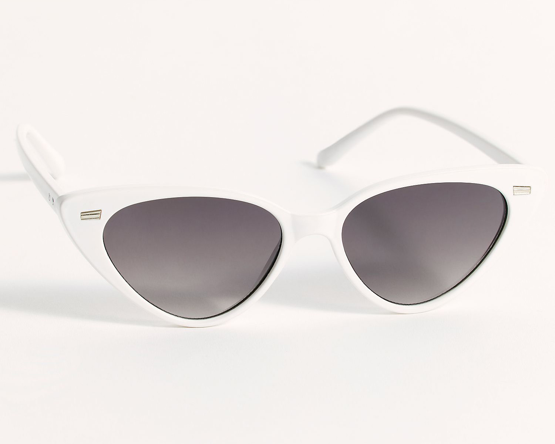 white cat eye sunglasses for brides