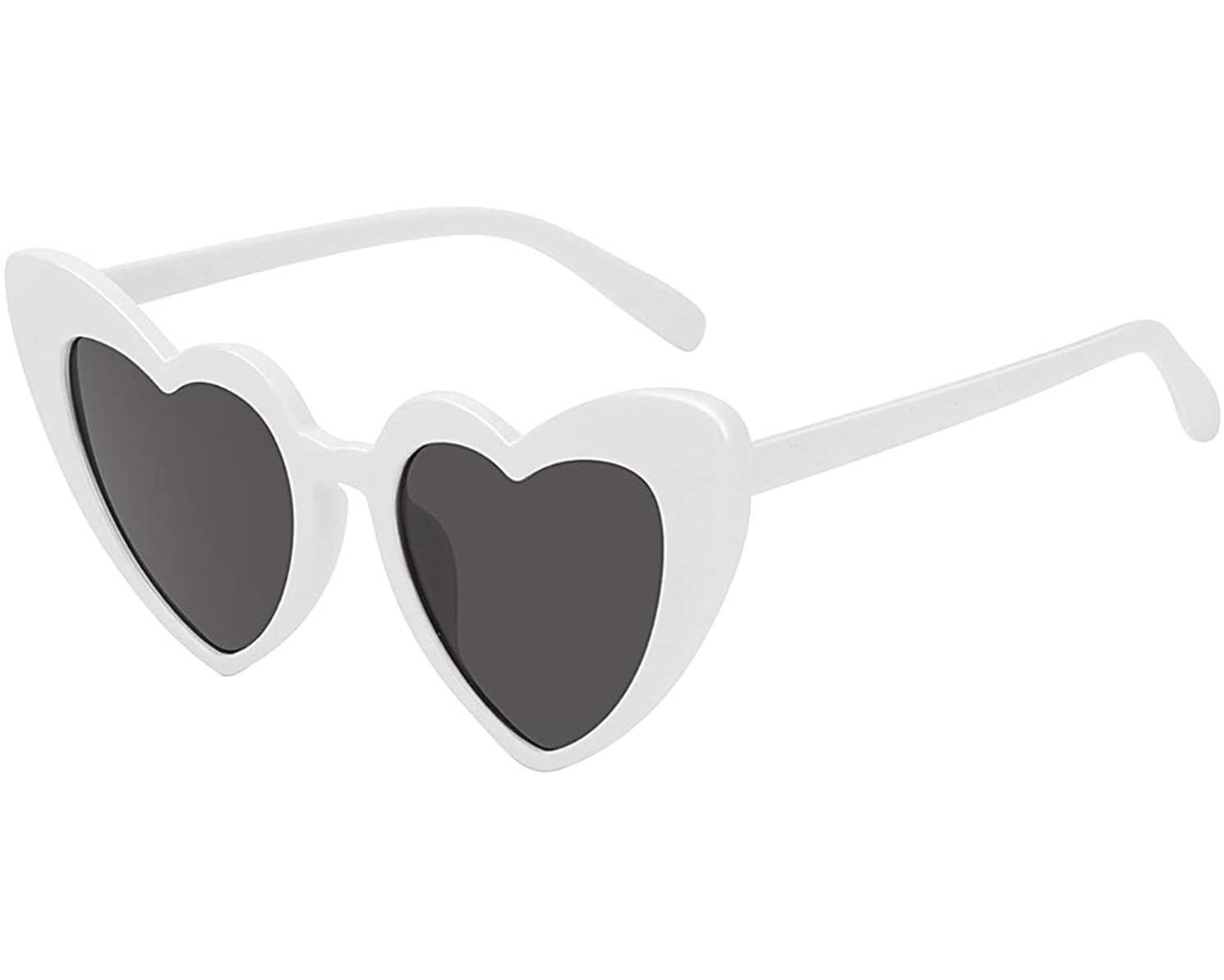 white heart sunglasses for weddings