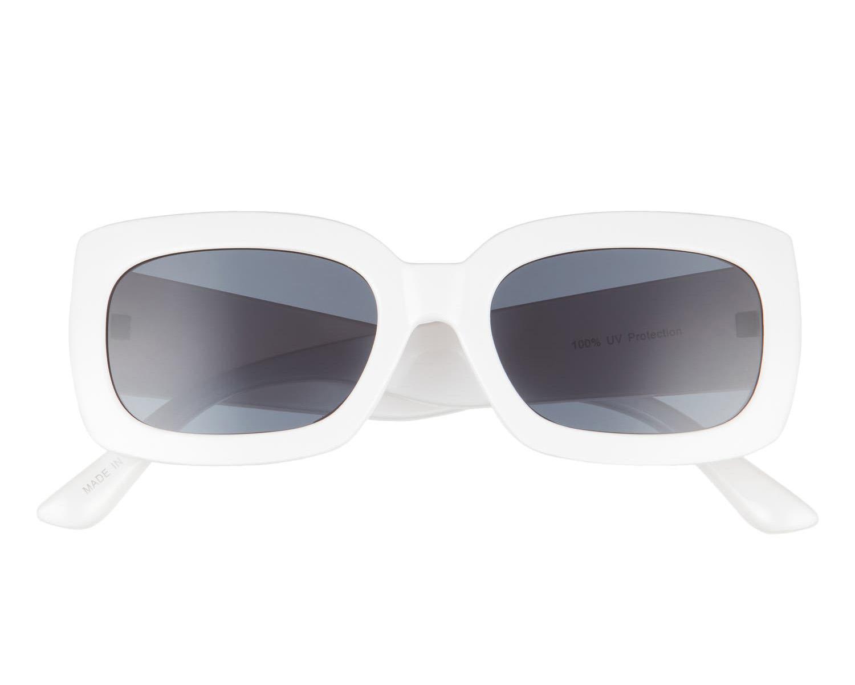 white rectangular bridal sunglasses