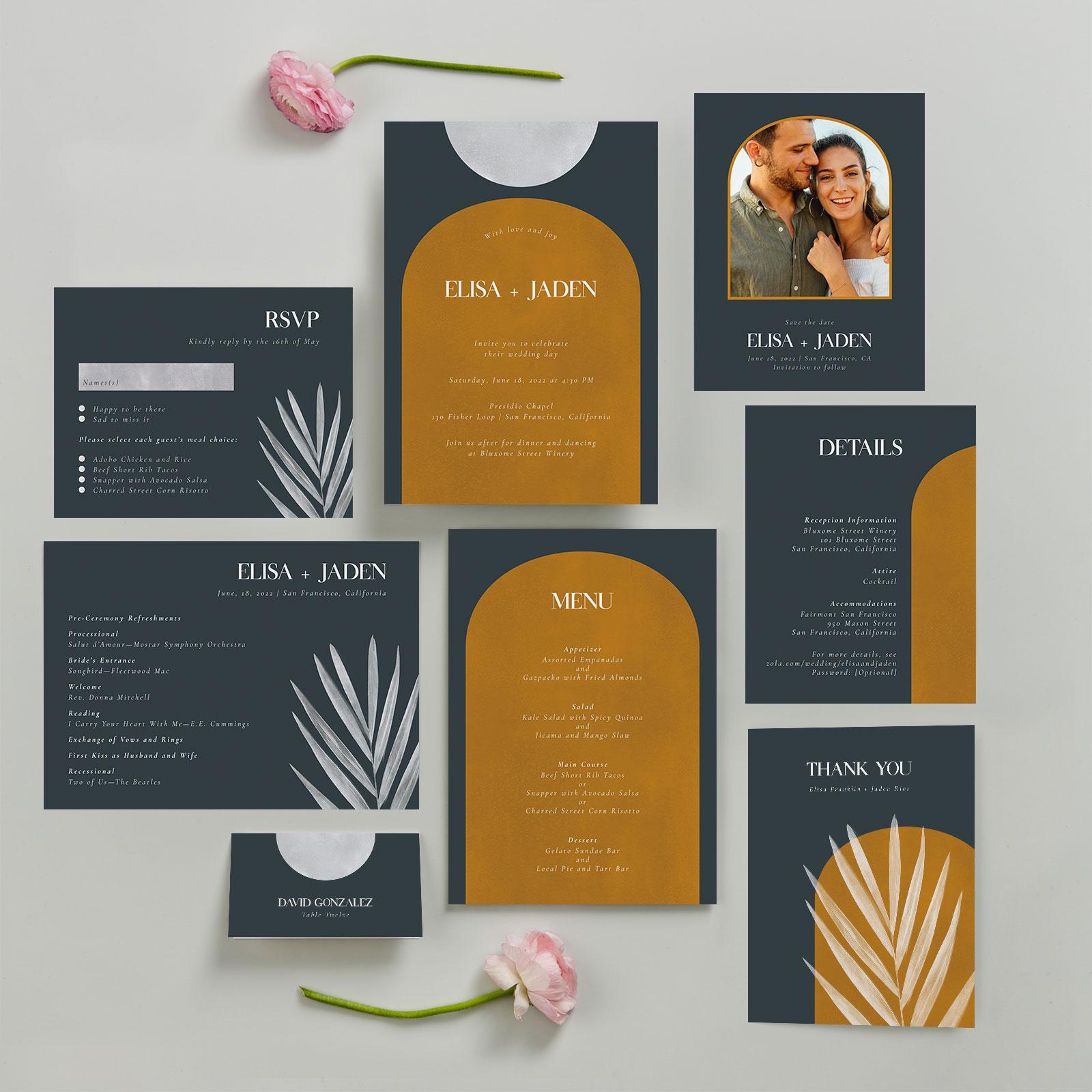 zola wedding invitations