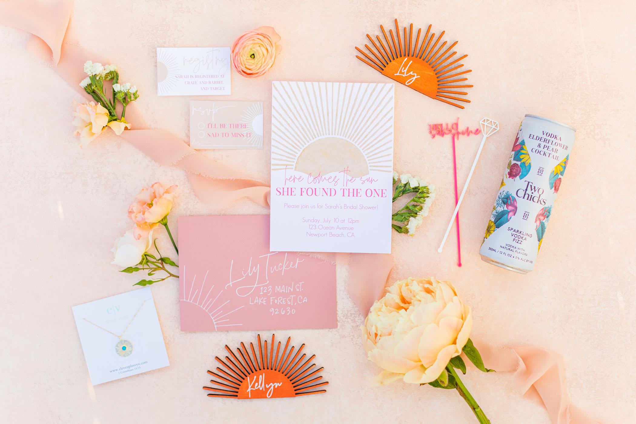 beach themed bridal shower invitation