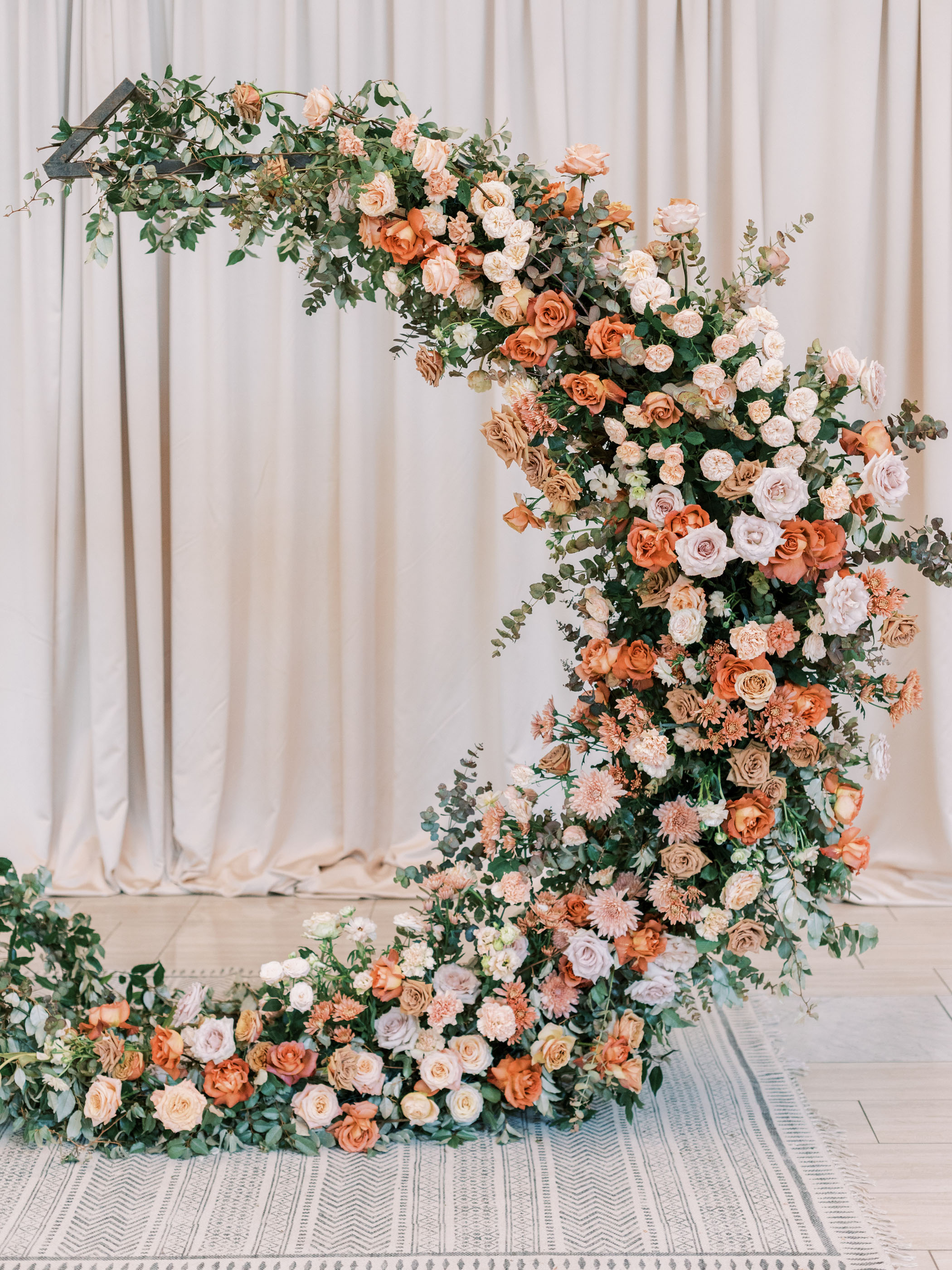Crescent Moon Floral Ceremony Arch