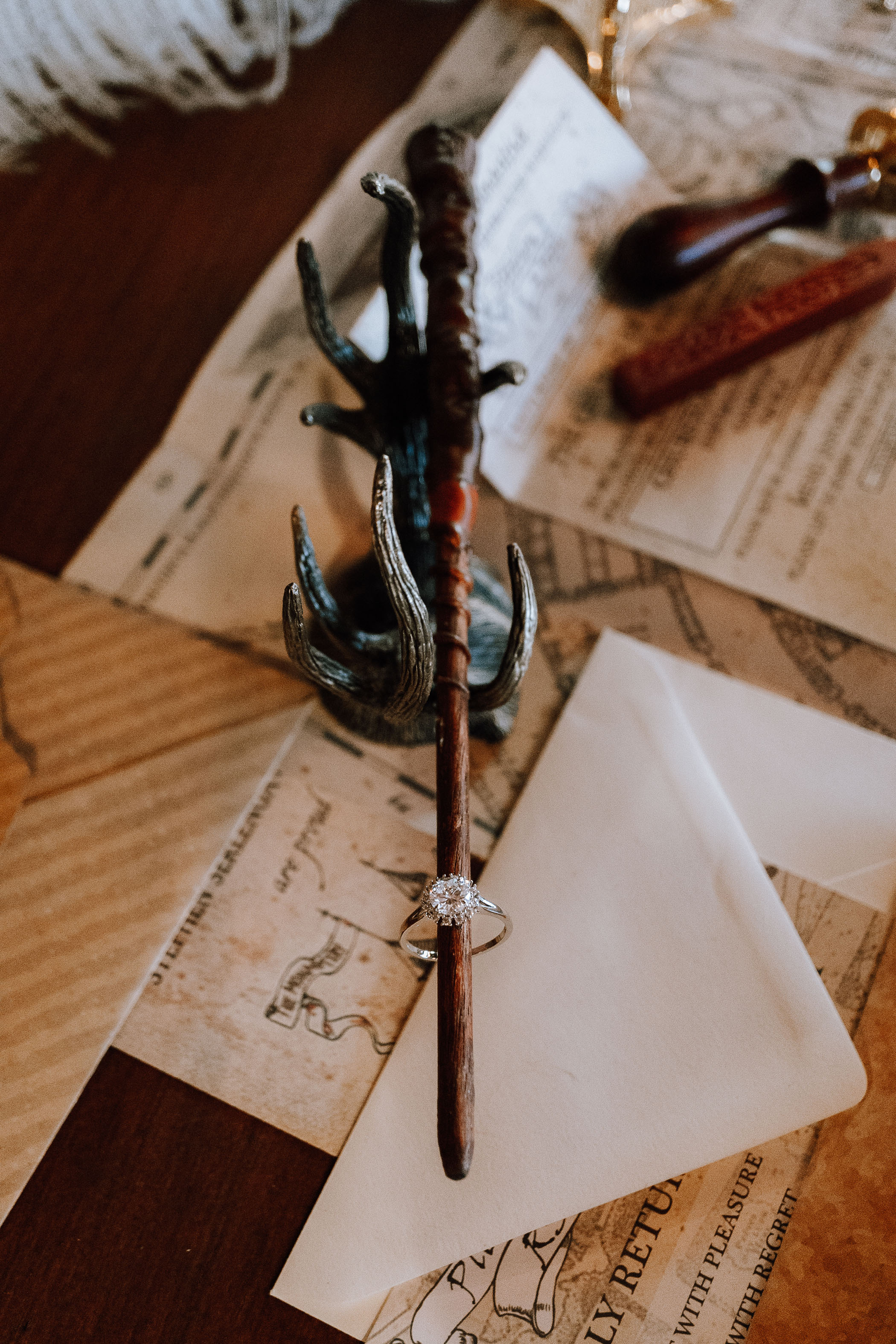 wand and wedding ring