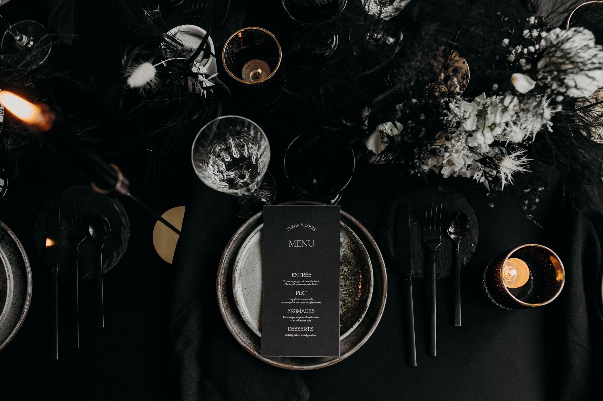 black-wedding-menu