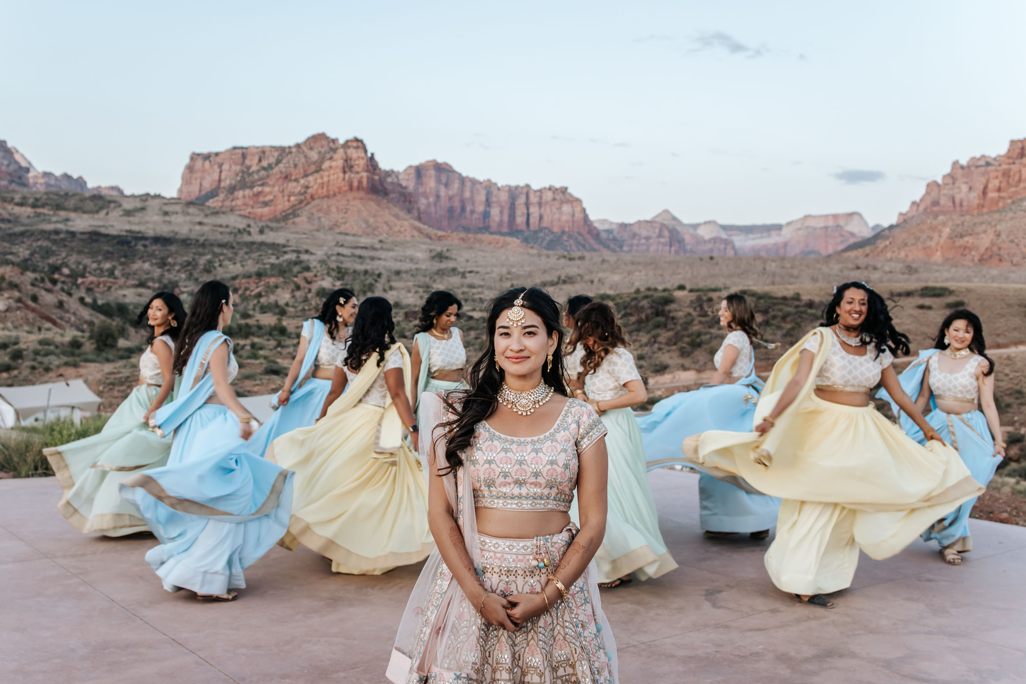 Pastel-Sari-Bridesmaids